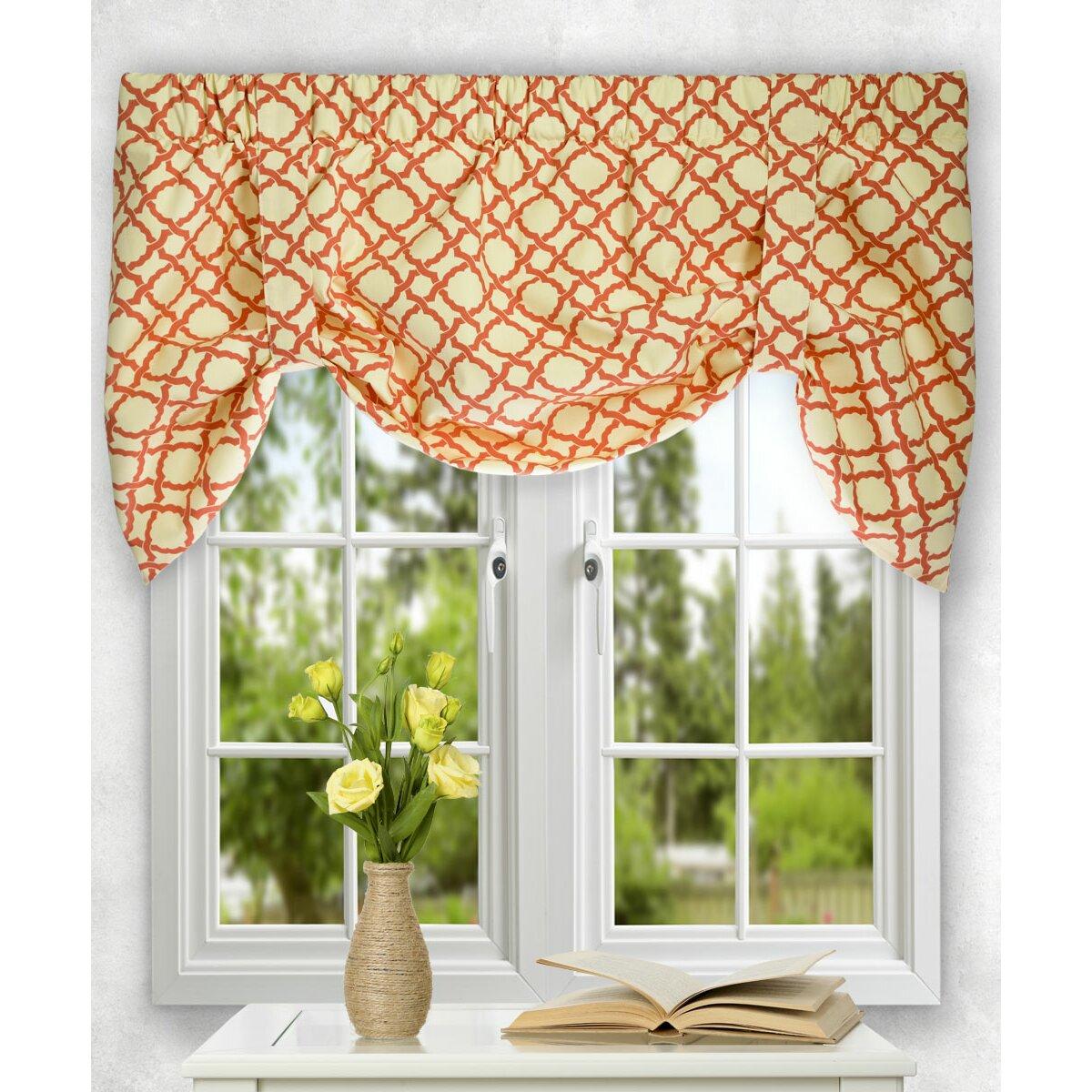 ellis curtain kent crossing tie up valance reviews wayfair. Black Bedroom Furniture Sets. Home Design Ideas
