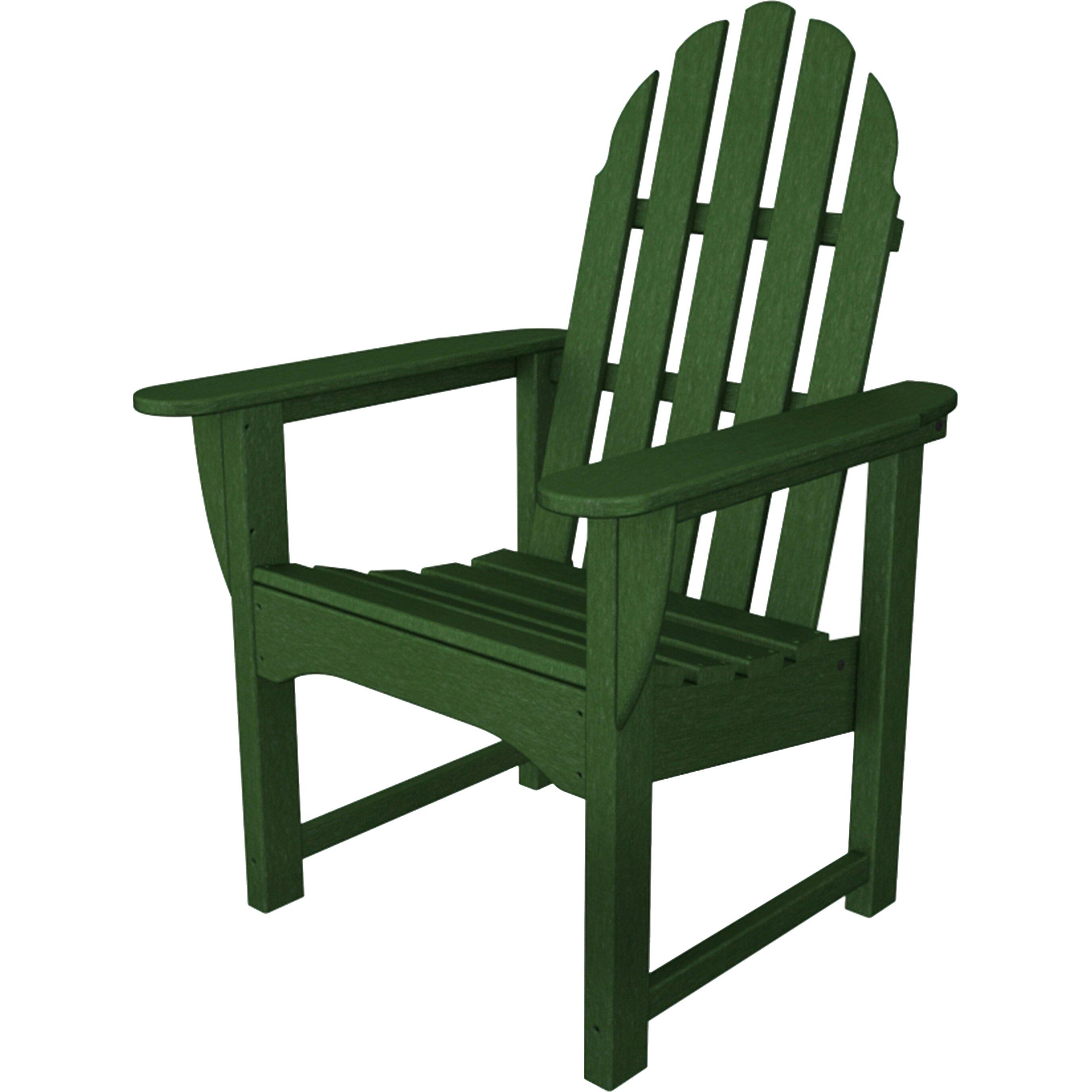 Polywood 174 Adirondack Dining Arm Chair Allmodern