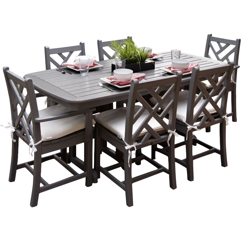Outdoor Patio Furniture Six Person Patio Dining Sets POLYWOOD