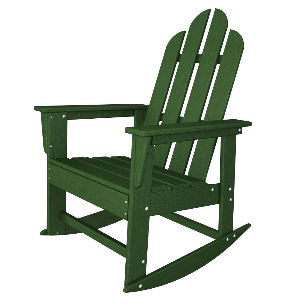 POLYWOOD ECD16GR Long Island Dining Chair Green