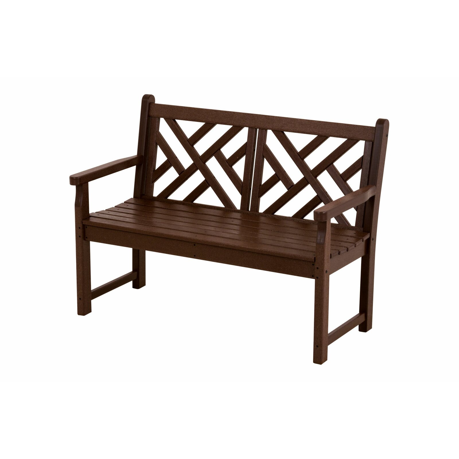 Polywood Chippendale 48 Plastic Bench Reviews Wayfair