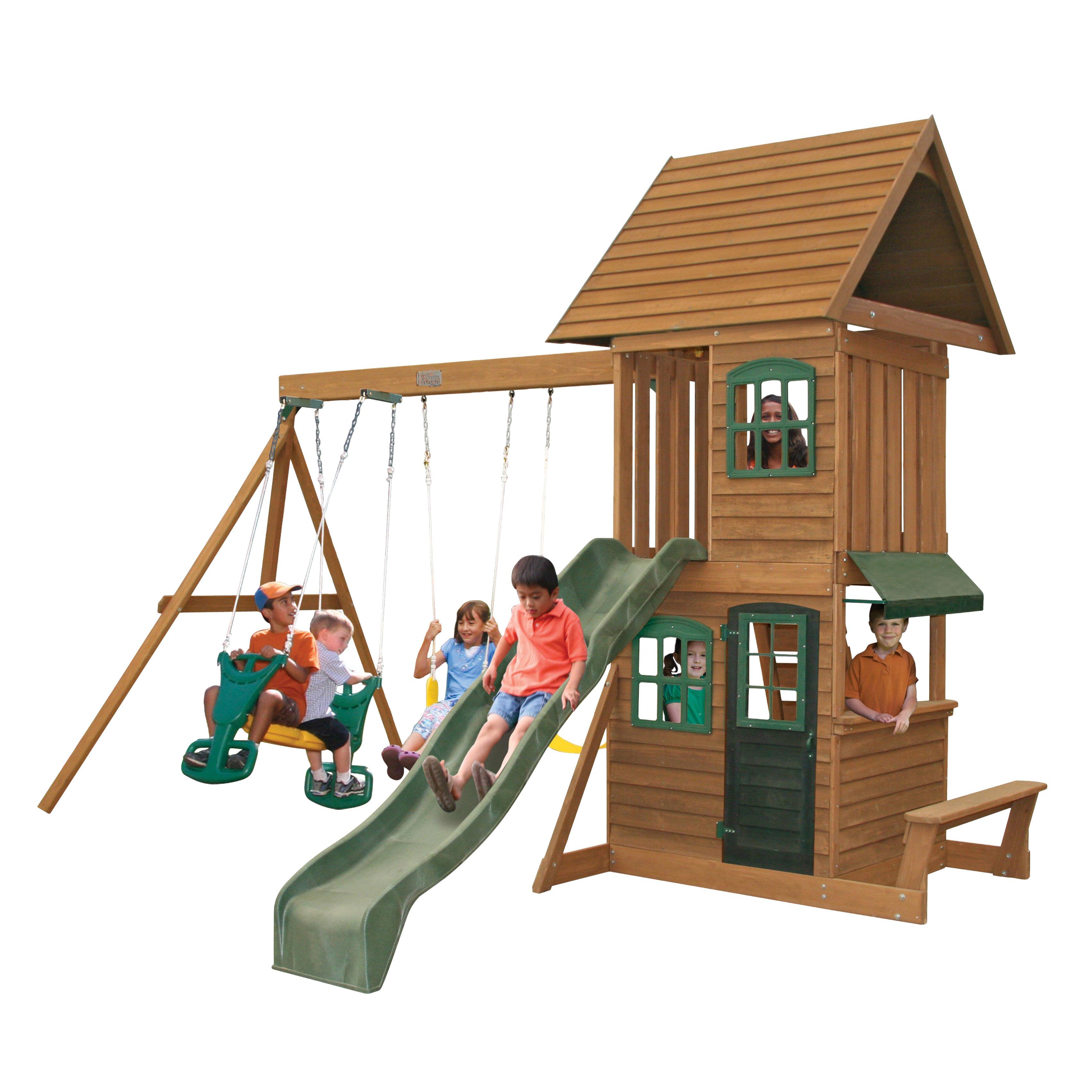 Backyard Swings: Windale Wooden Swing Set