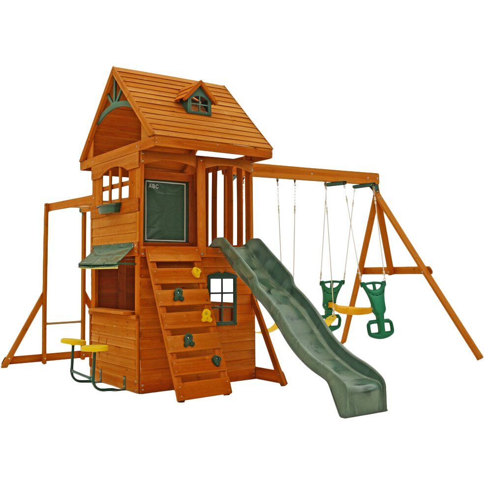 big backyard ridgeview deluxe clubhouse wooden swing set reviews