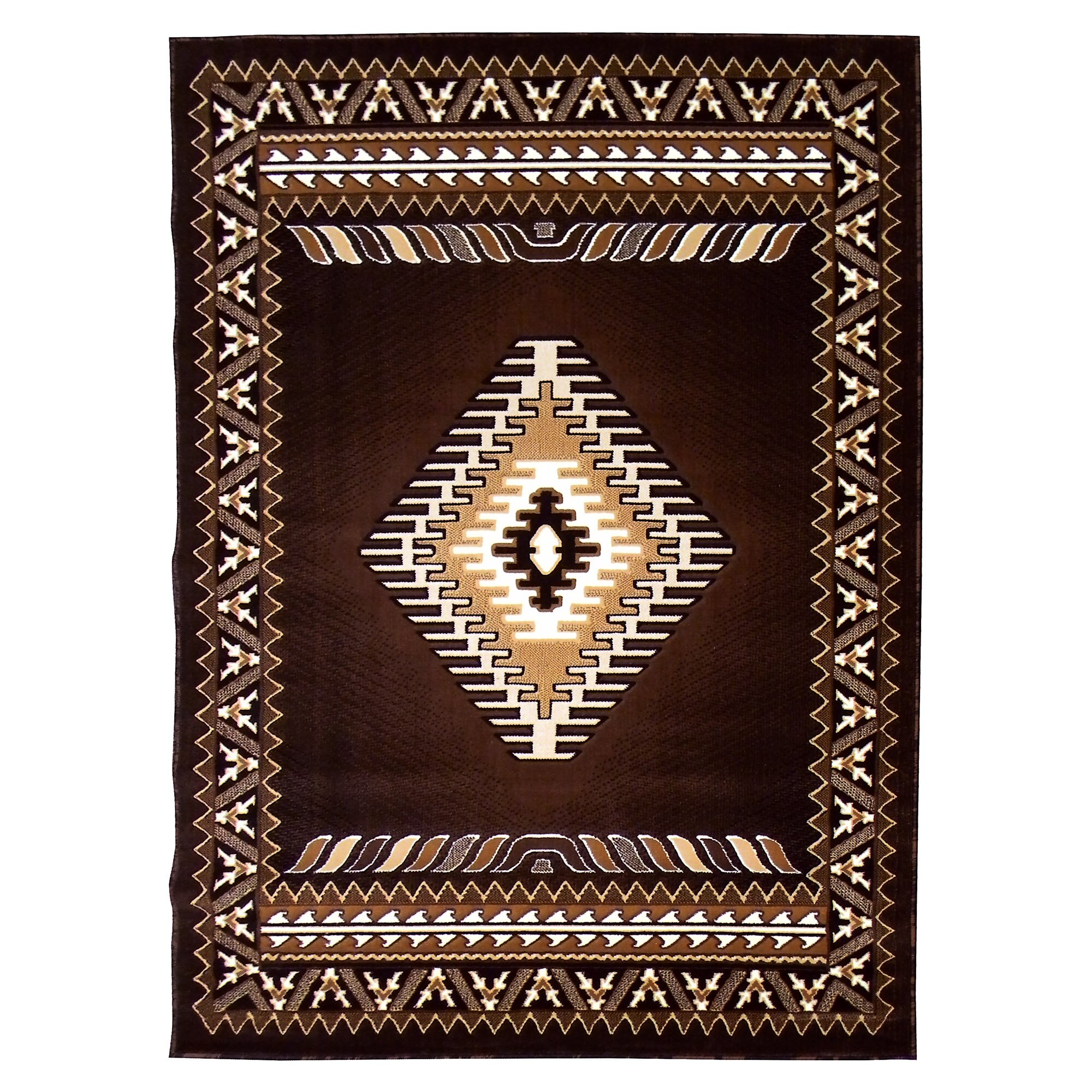 donnieann company kingdom chocolate southwest native american area rug reviews. Black Bedroom Furniture Sets. Home Design Ideas