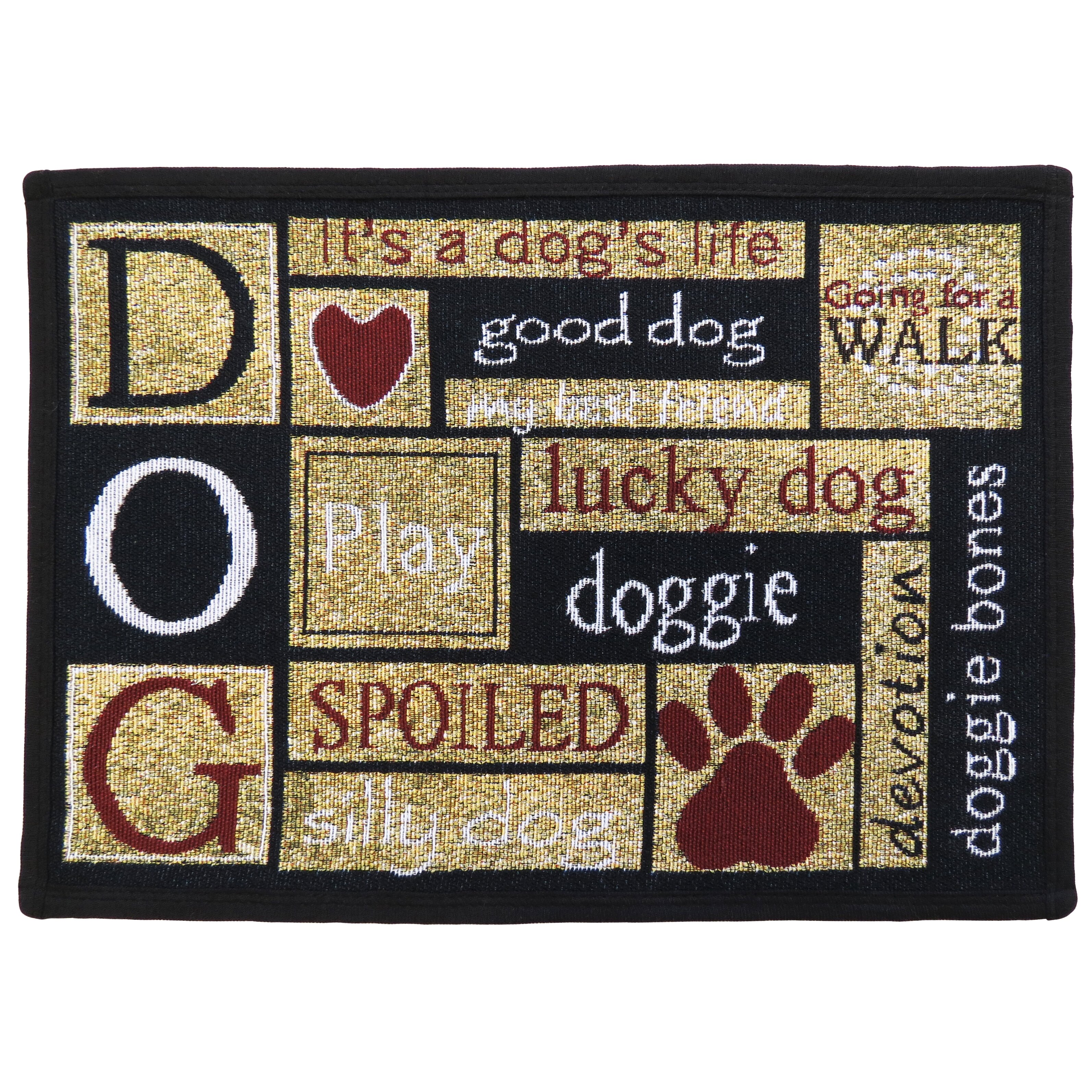 Park B Smith Ltd I Love Dogs Tapestry Indoor Outdoor Area