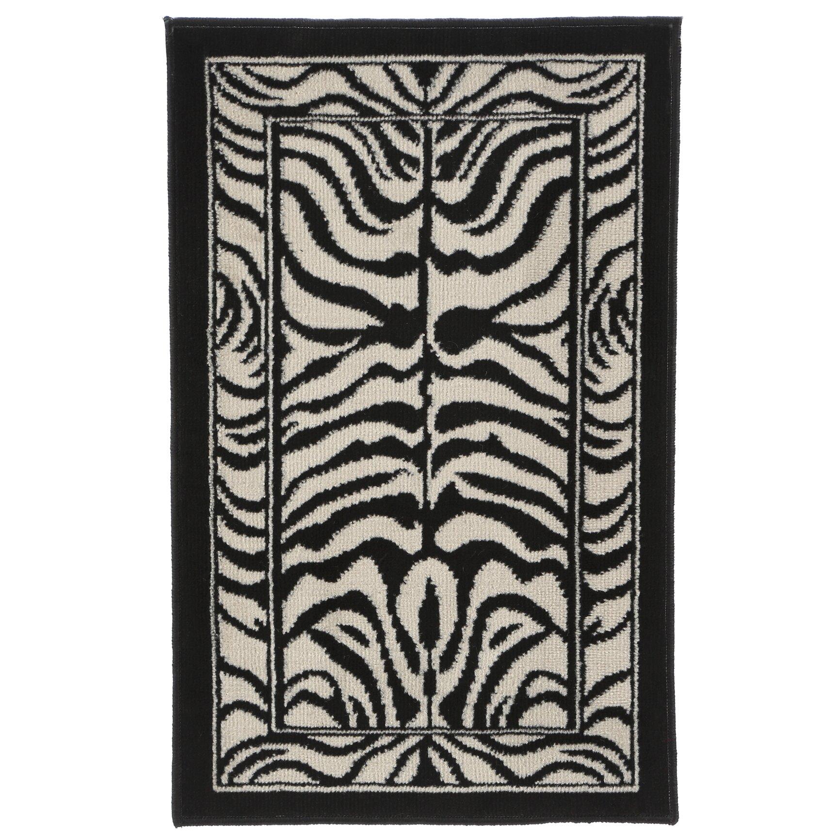 Zebra Rug Wayfair: Home Dynamix Zone Zebra Print Ebony Area Rug & Reviews
