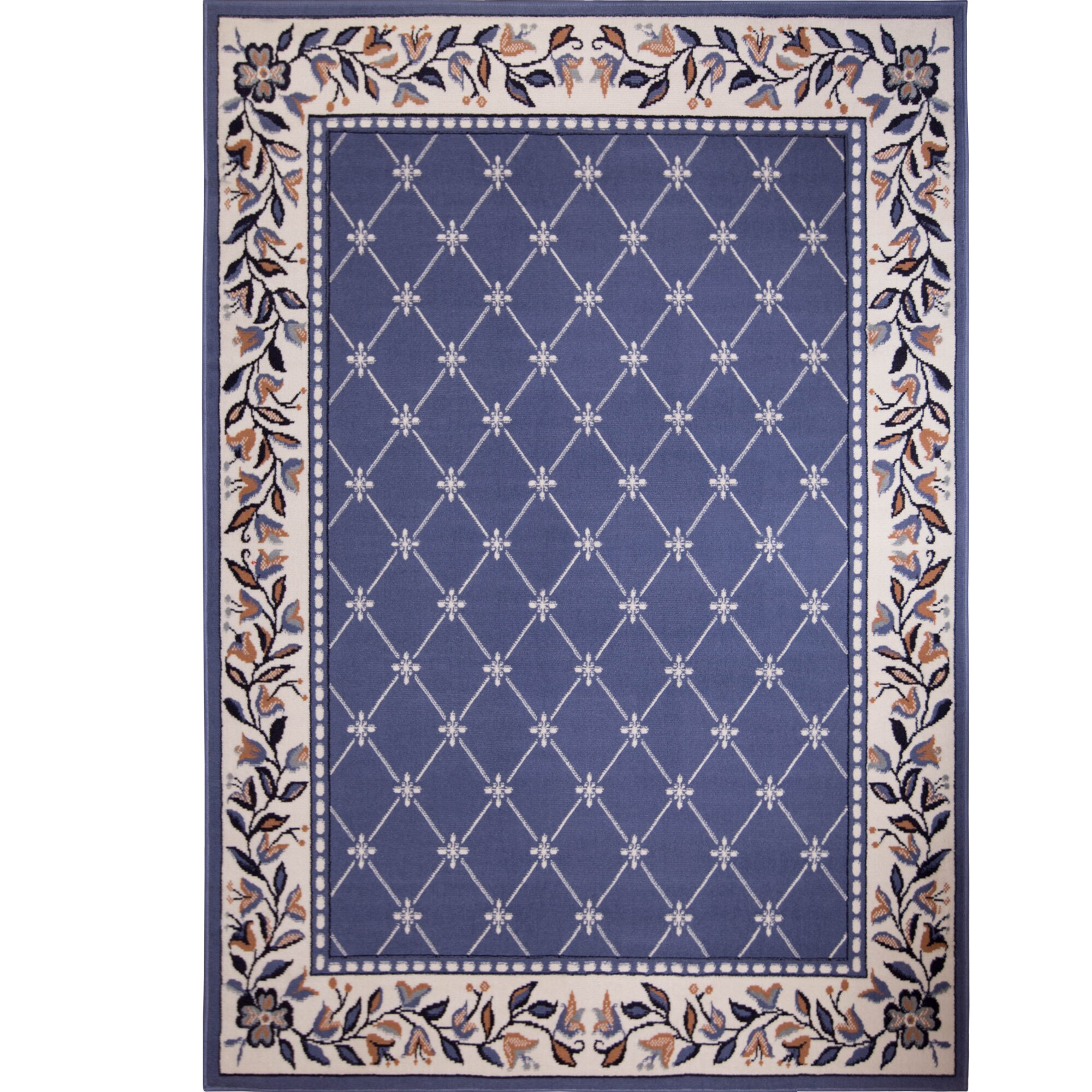 Home Dynamix Geometric Country Blue Area Rug Amp Reviews