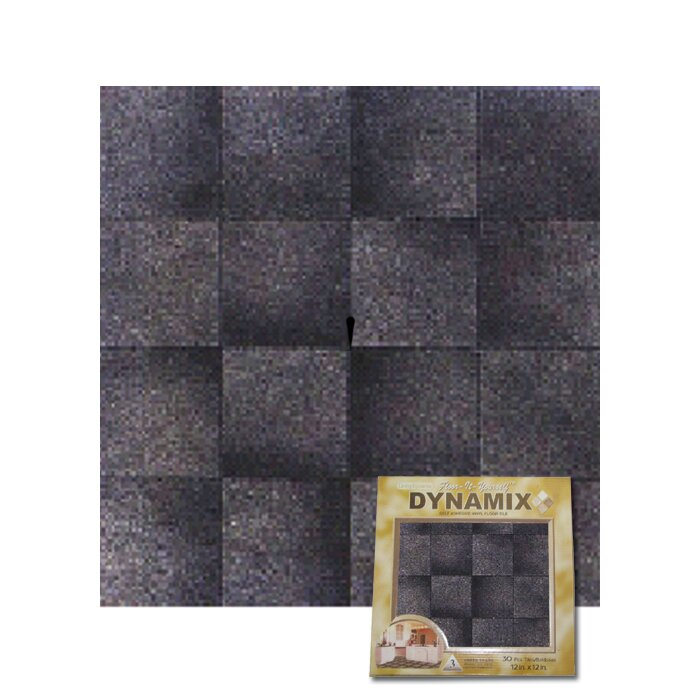 """Dynamix Vinyl Tile 1009: Dynamix Vinyl Tile 12"""" X 12"""" Vinyl Tile In Grey Marble"""