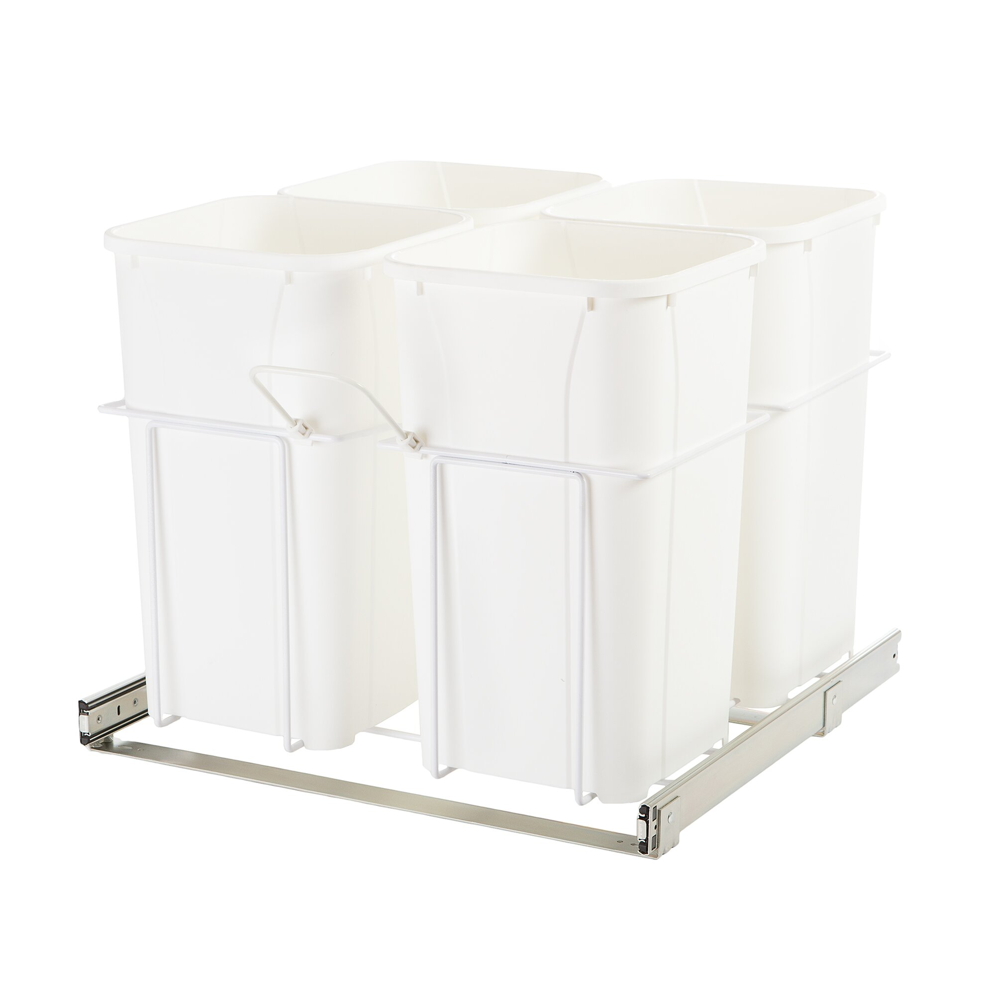 6 75 gal in cabinet pull out bottom mount trash can wayfair