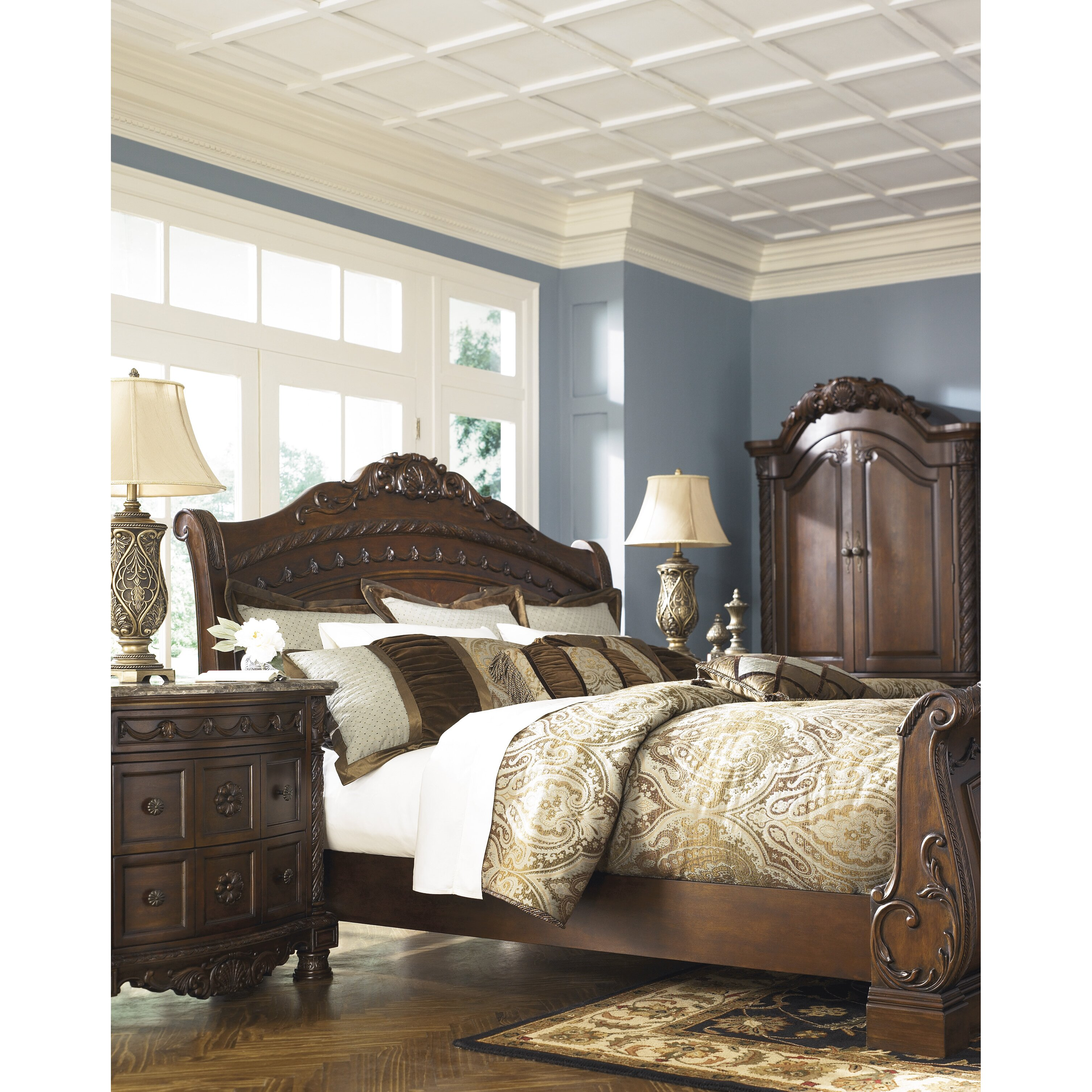 Signature design by ashley north shore sleigh bed - Ashley bedroom furniture reviews ...