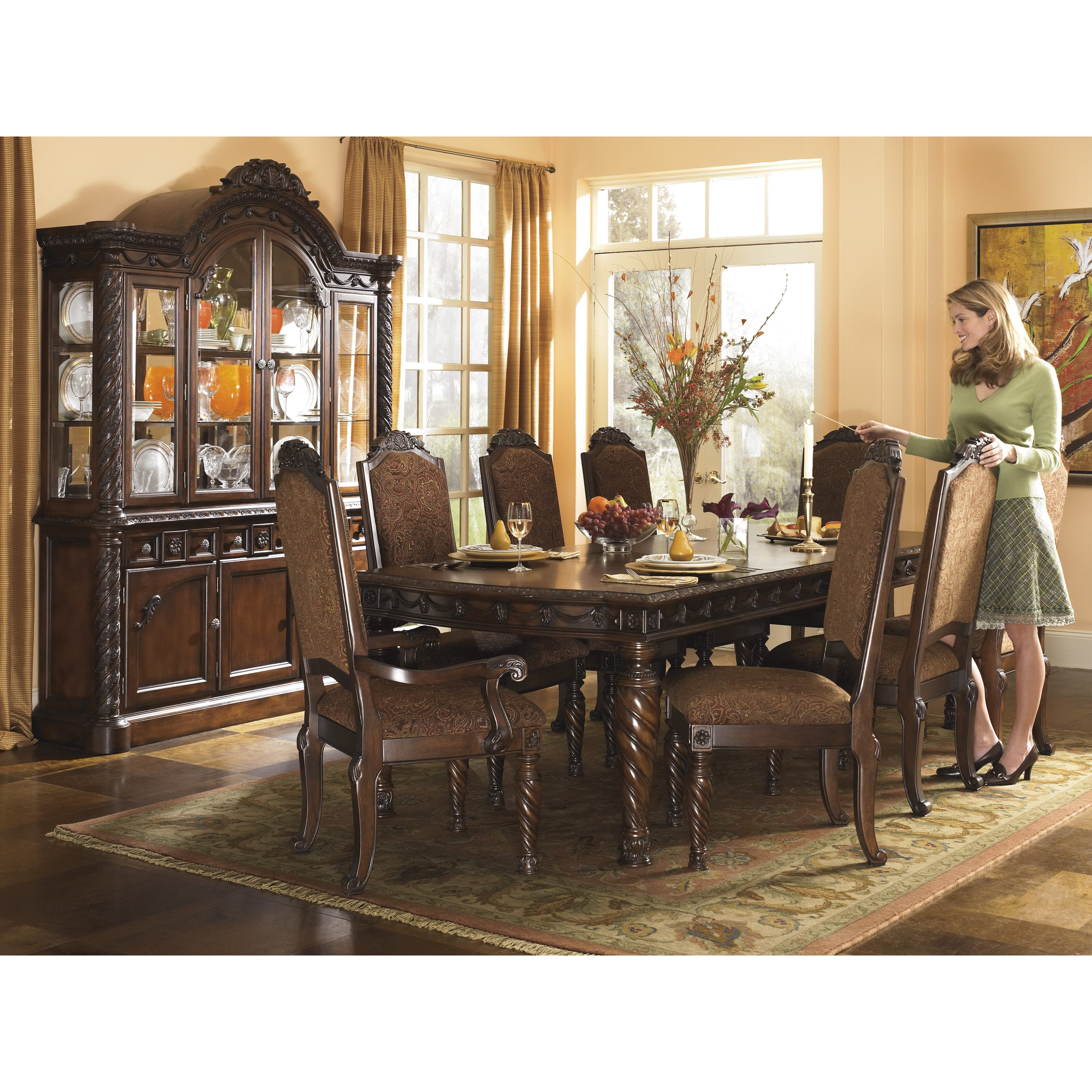Wildon home north shore dining room china top hutch for Wildon home dining