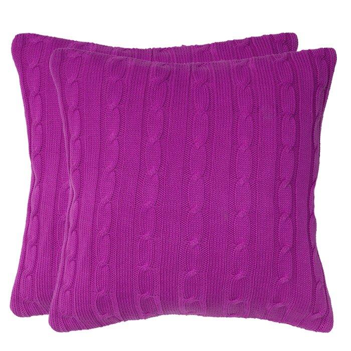 Throw Pillow Button Closure : Wildon Home Cable Knit Wooden Button Closure Throw Pillow & Reviews Wayfair