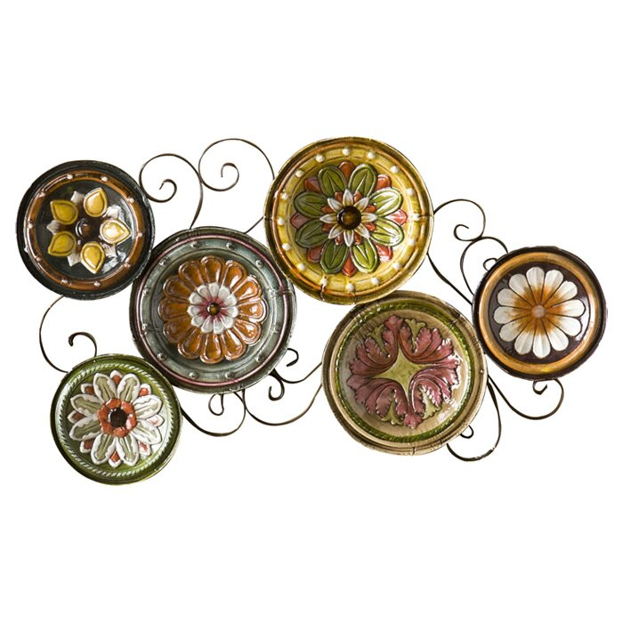 Wildon Home 174 Scattered Italian Plates Wall D 233 Cor