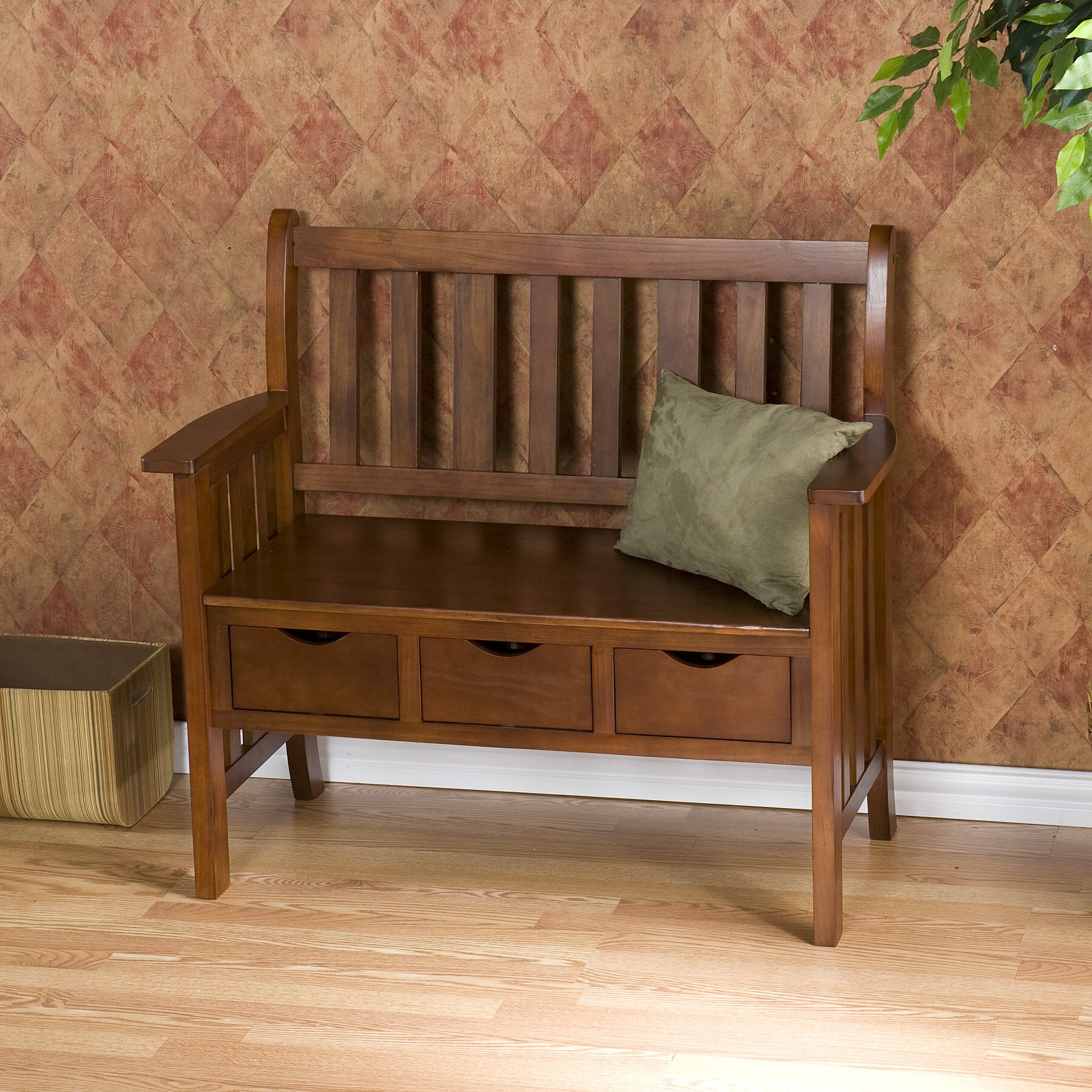 Wildon Home 174 Davidson Storage Wood Entryway Bench