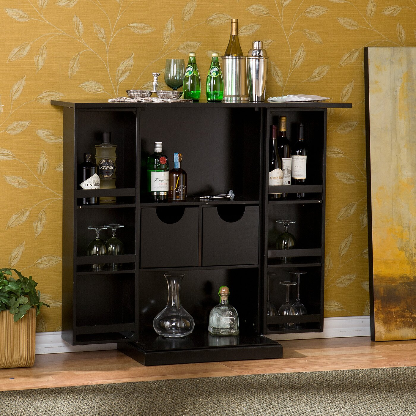 boswell bar cabinet with wine storage by wildon home