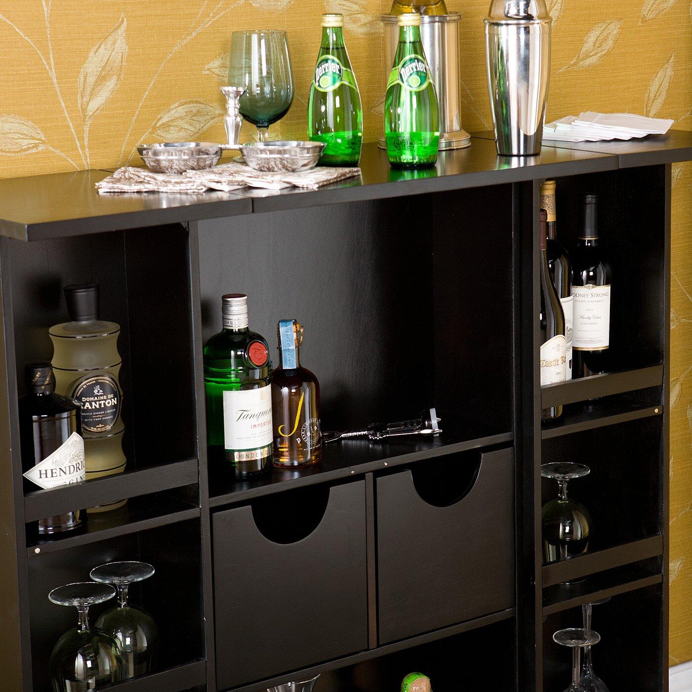 Boswell Bar Cabinet With Wine Storage Wayfair