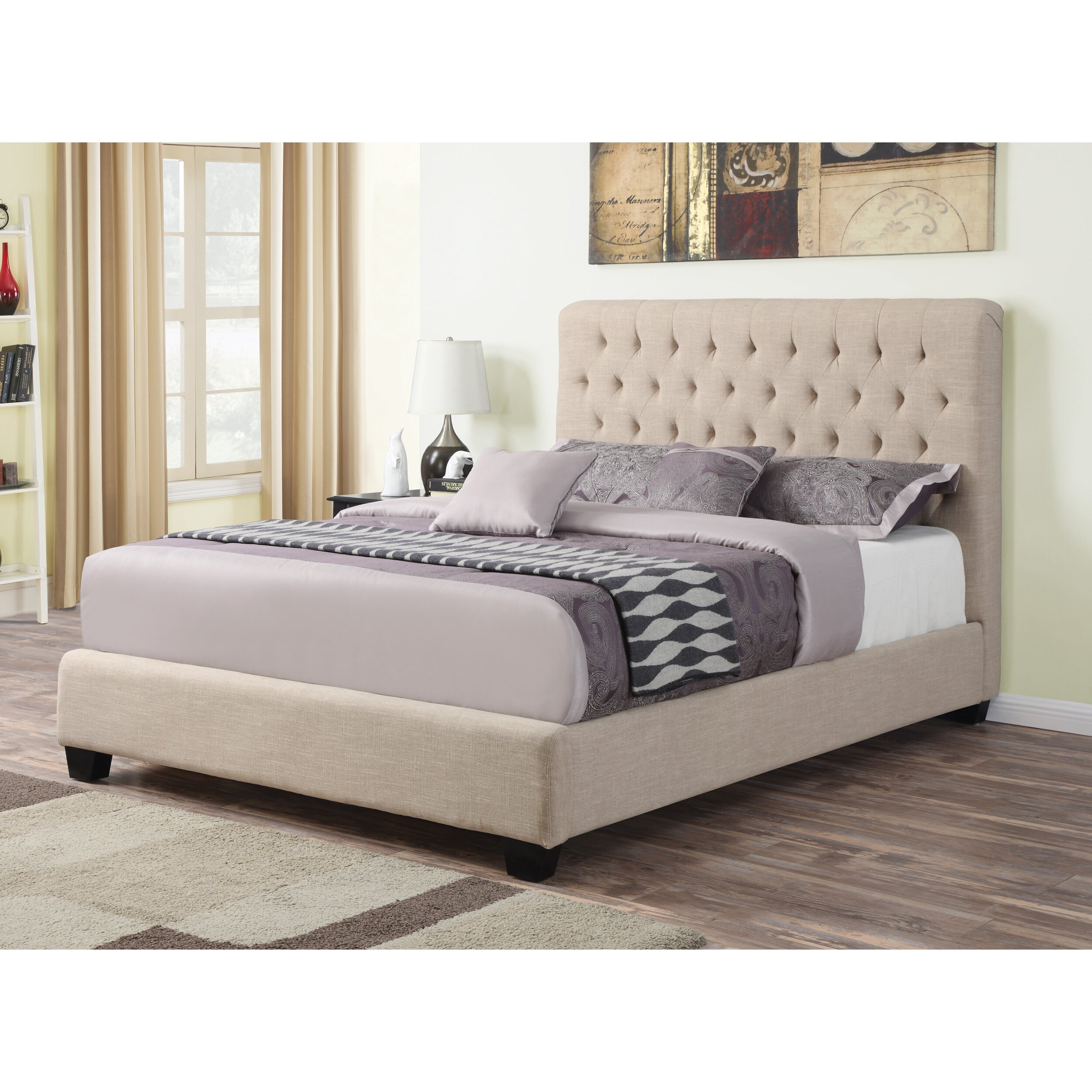 Wildon Home Upholstered Panel Bed Reviews Wayfair