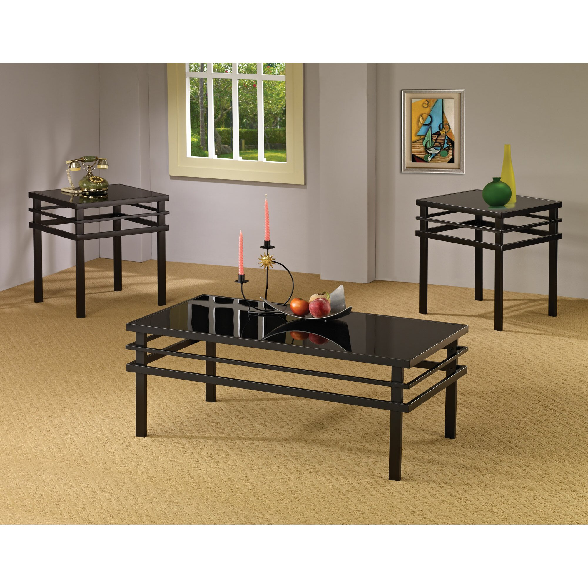 Wildon Home ® Bingham 3 Piece Coffee Table Set & Reviews