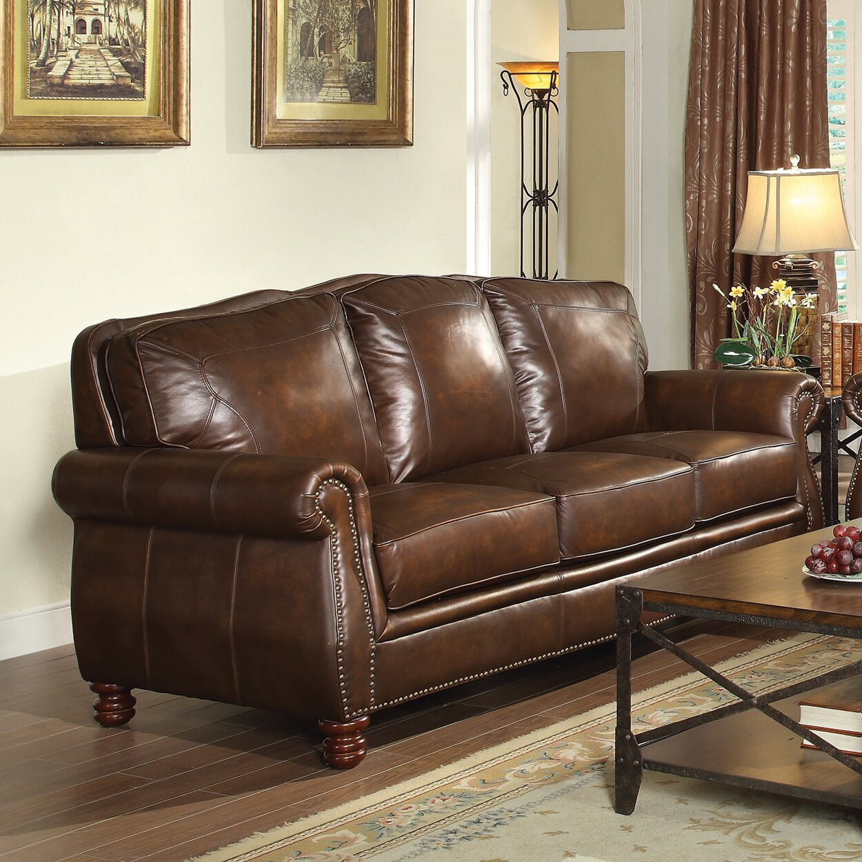 Walborn Leather Sofa