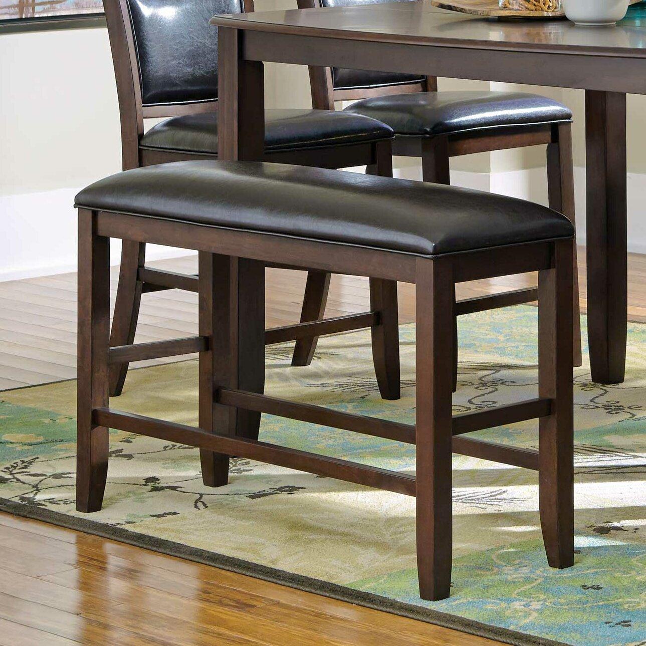 Mangels Upholstered Kitchen Bench in Dark Brown