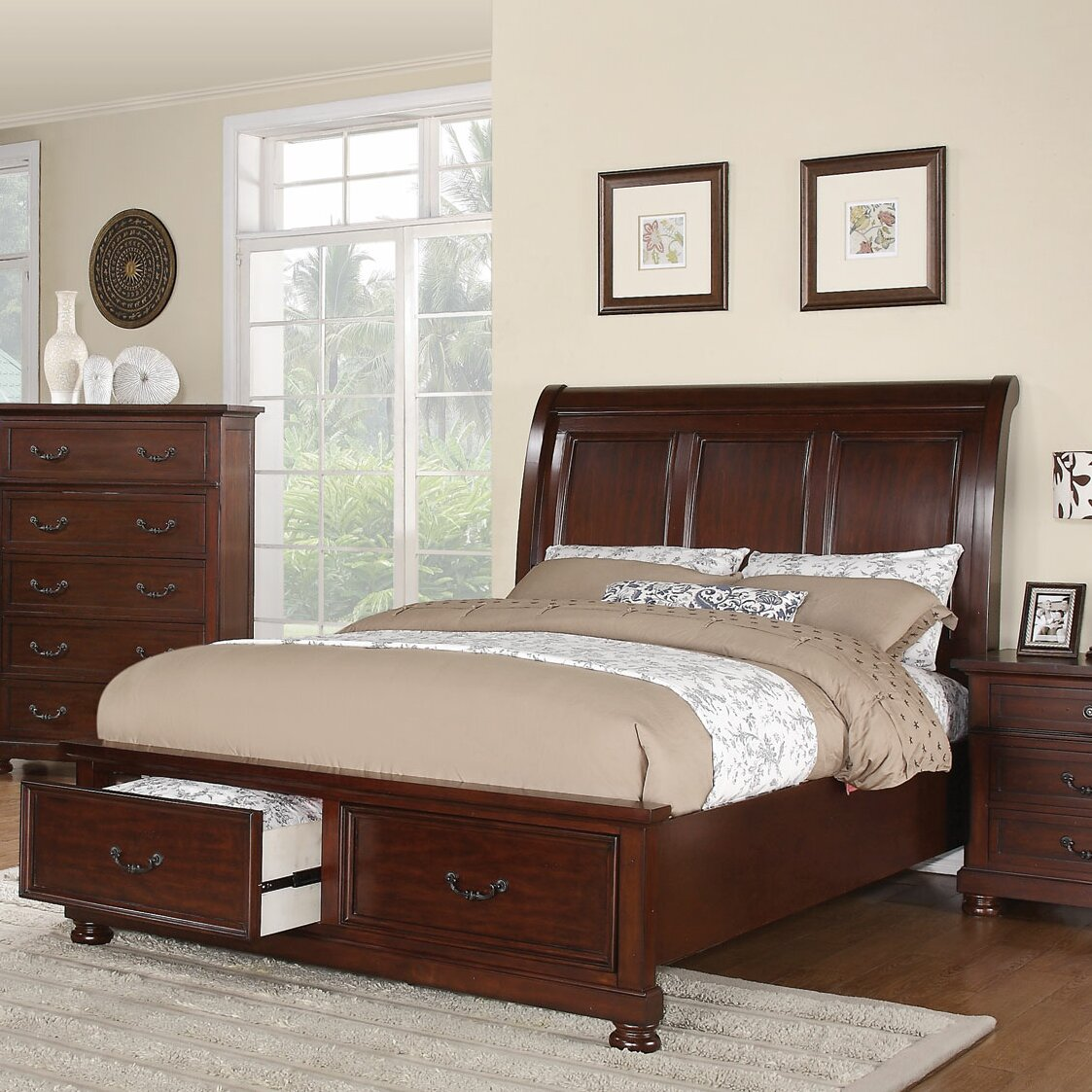 Wildon Home Nicole Storage Sleigh Bed Reviews