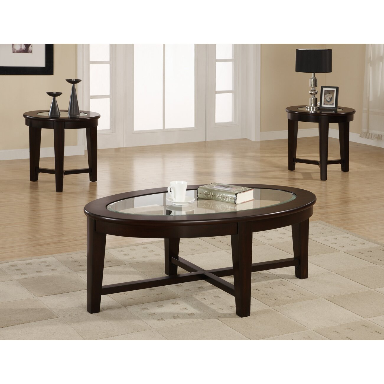 Veropeso 3 Piece Coffee Table Set: Amalga 3 Piece Coffee Table Set