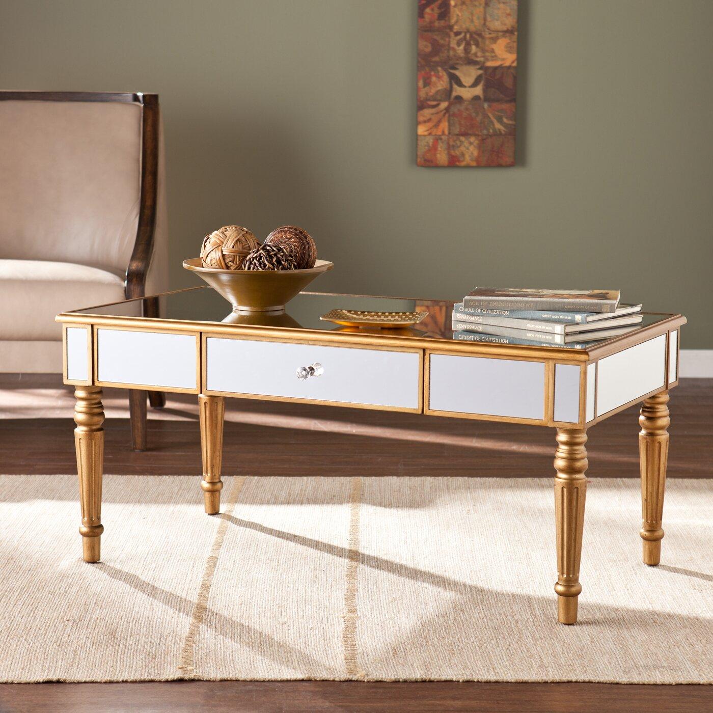 Wildon Home ® Huxley Mirrored Coffee Table & Reviews