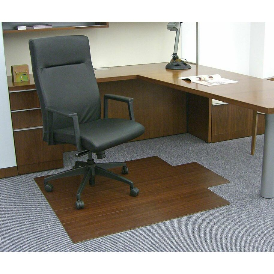 low pile and hardwood bamboo office chair mat wayfair. Black Bedroom Furniture Sets. Home Design Ideas