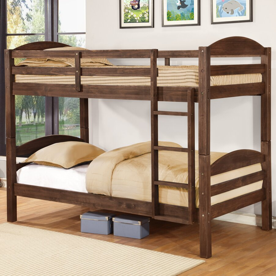 wildon home alissa twin over full bunk bed reviews wayfair. Black Bedroom Furniture Sets. Home Design Ideas