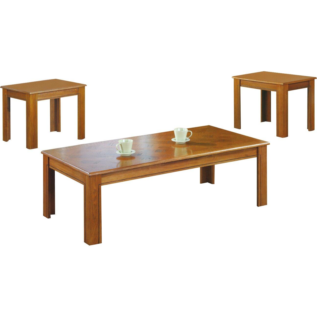 junction city 3 piece coffee table set wayfair. Black Bedroom Furniture Sets. Home Design Ideas