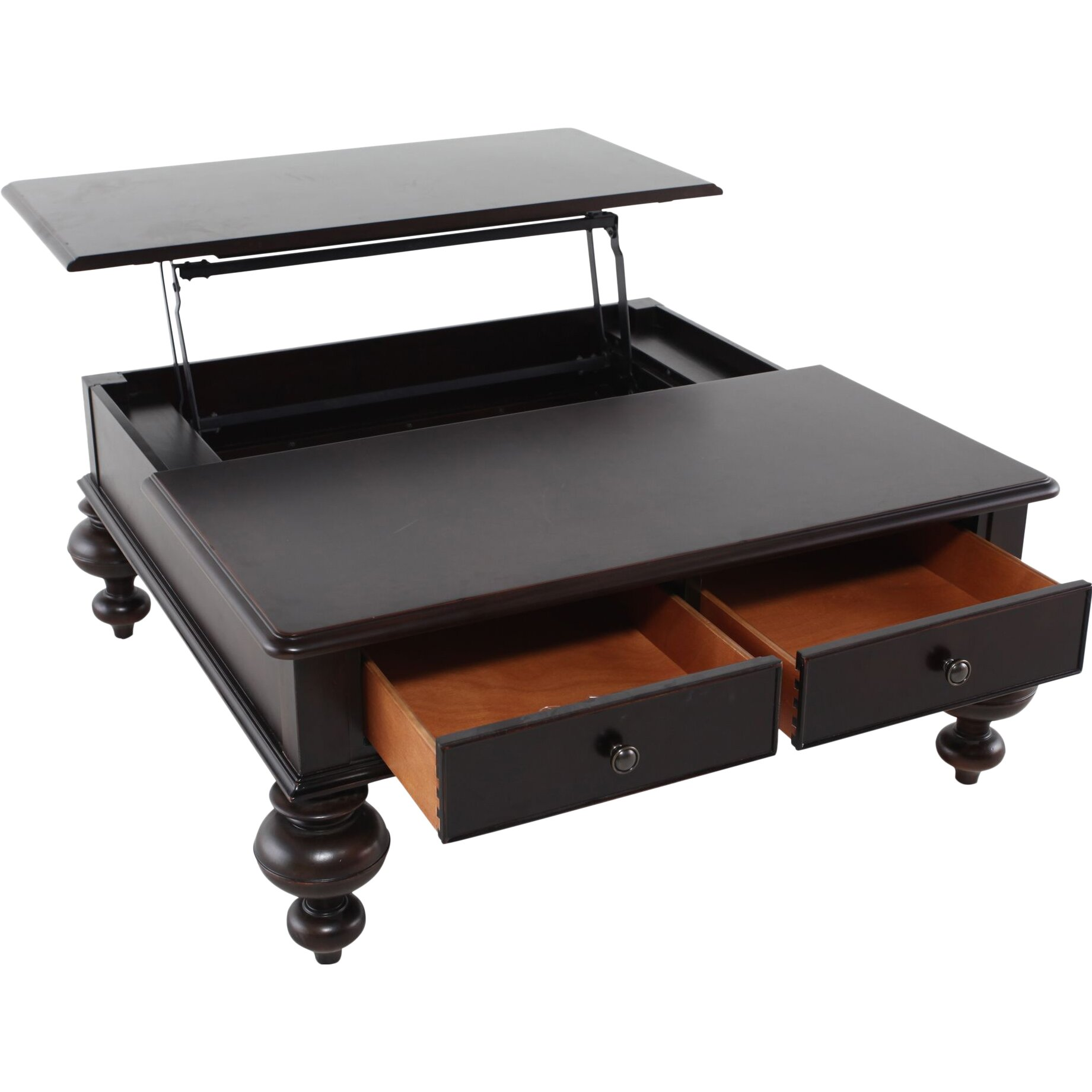 wildon home paula deen home put your feet up coffee table with lift top reviews wayfair. Black Bedroom Furniture Sets. Home Design Ideas