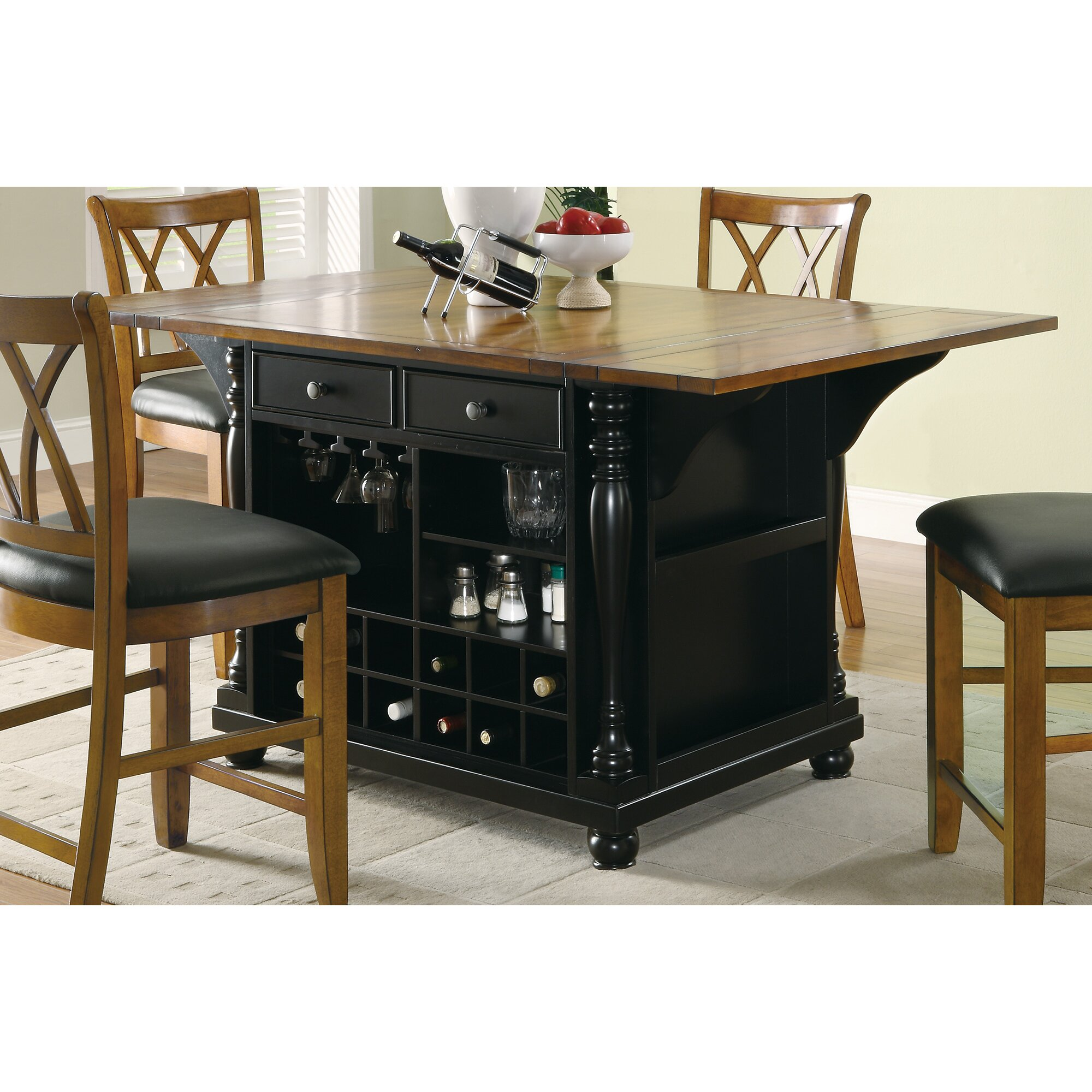 Kitchen Island Furniture: Wildon Home ® Kitchen Island & Reviews