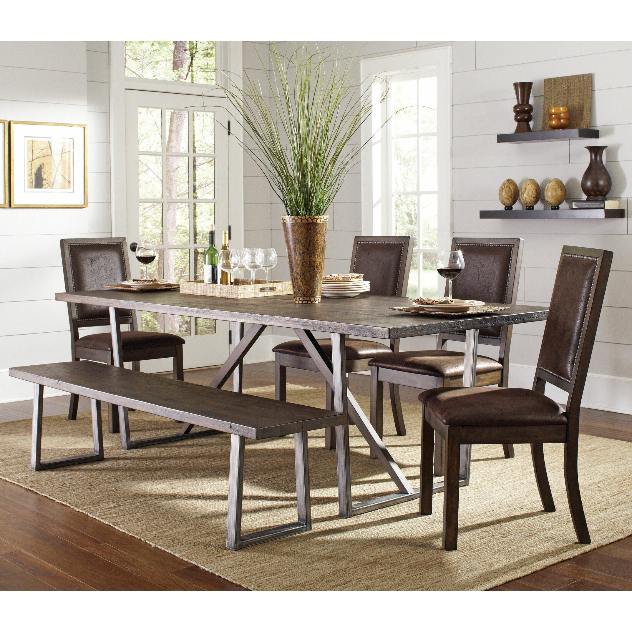 Wildon home genoa dining table wayfair for Wildon home dining