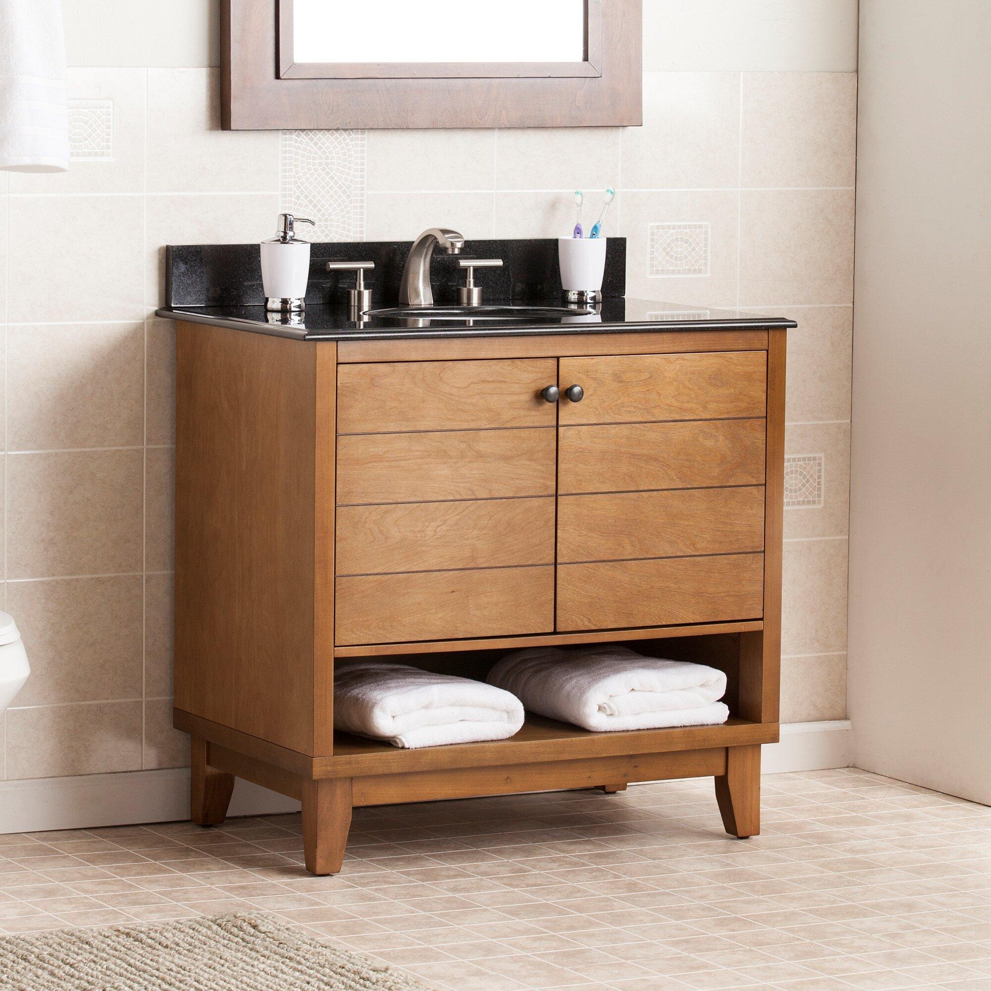 "Wildon Home ® Reading 34"" Single Bath Vanity Sink with ..."