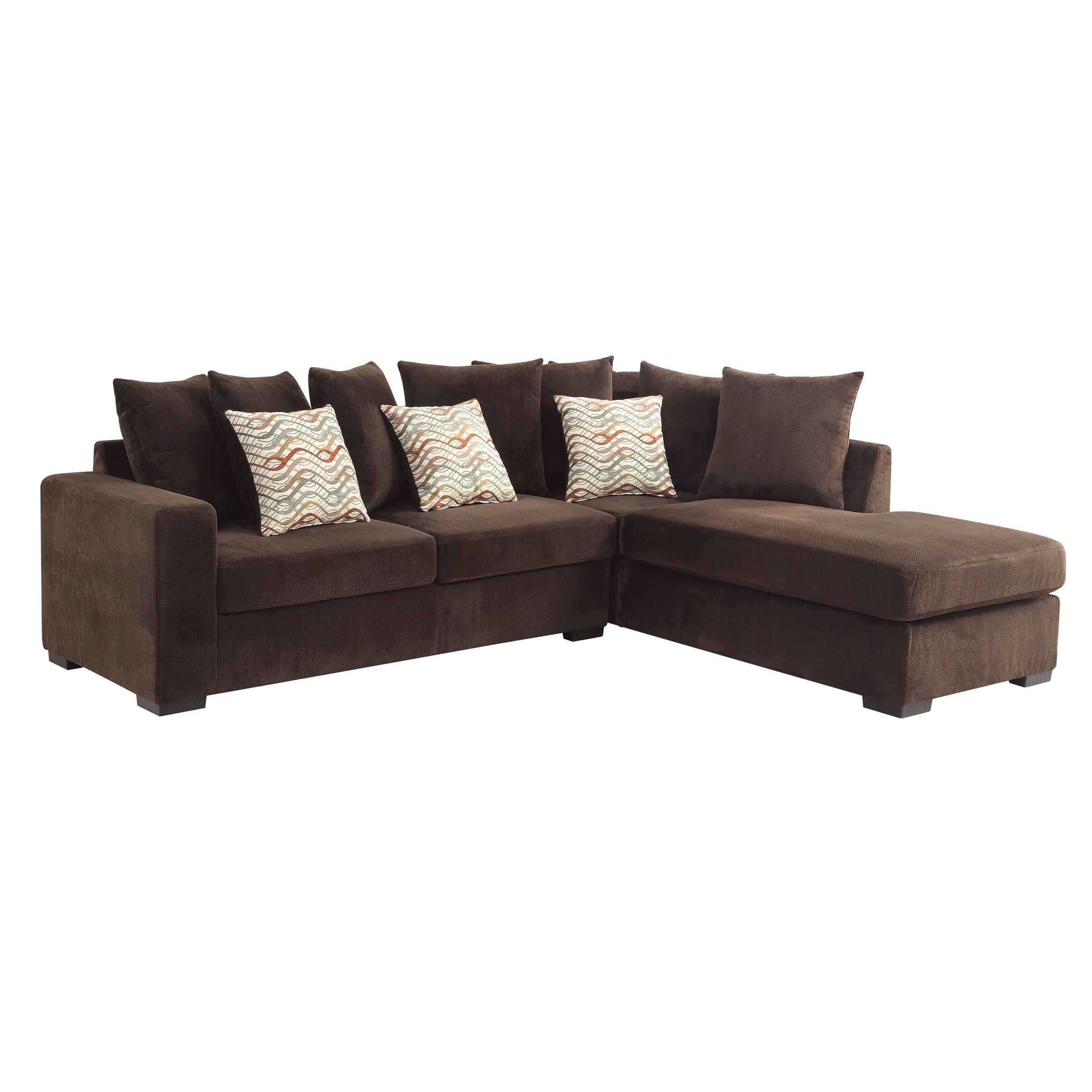 Wildon home olson reversible chaise sectional reviews for Albany saturn sectional sofa chaise