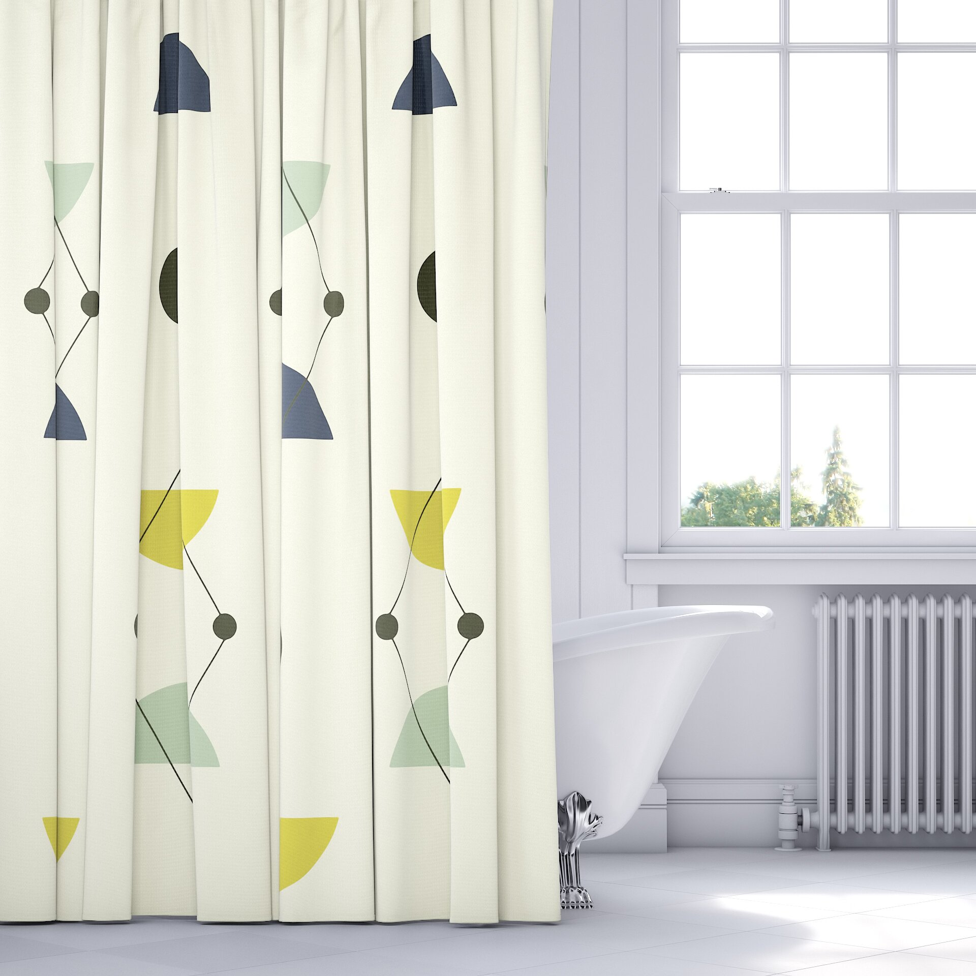 Midcentury Modern Shower Curtain