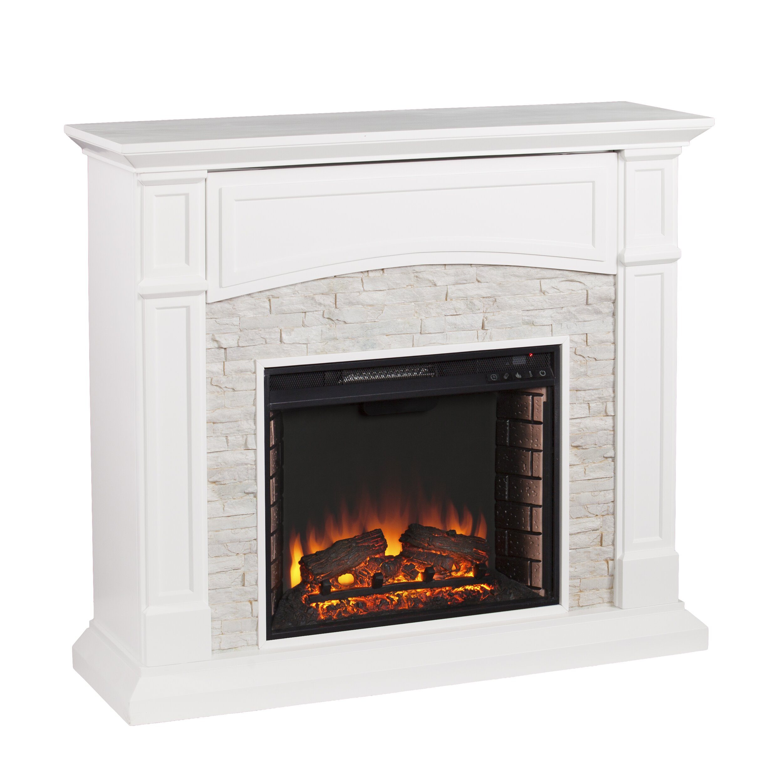 sheldon faux stone media electric fireplace