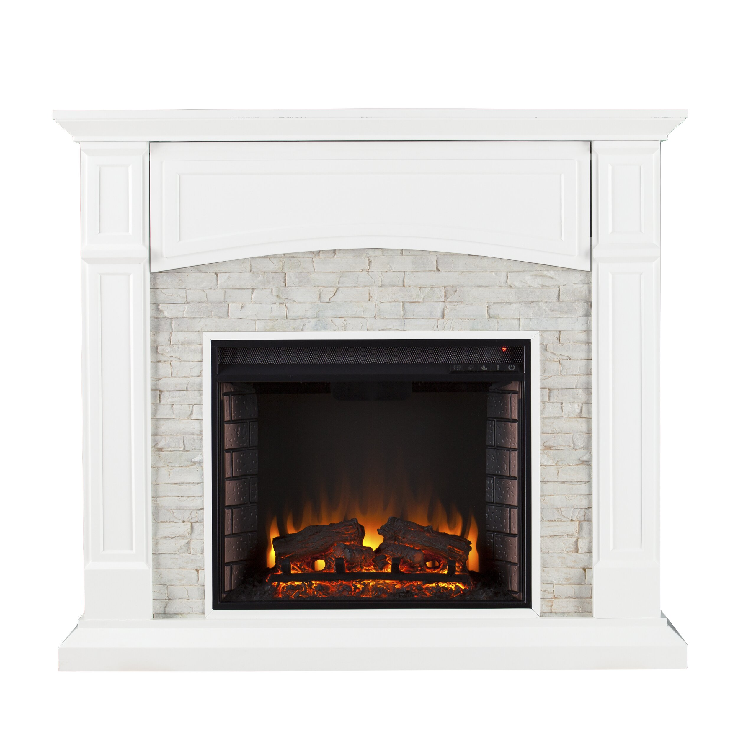 sheldon faux stone media electric fireplace by wildon home
