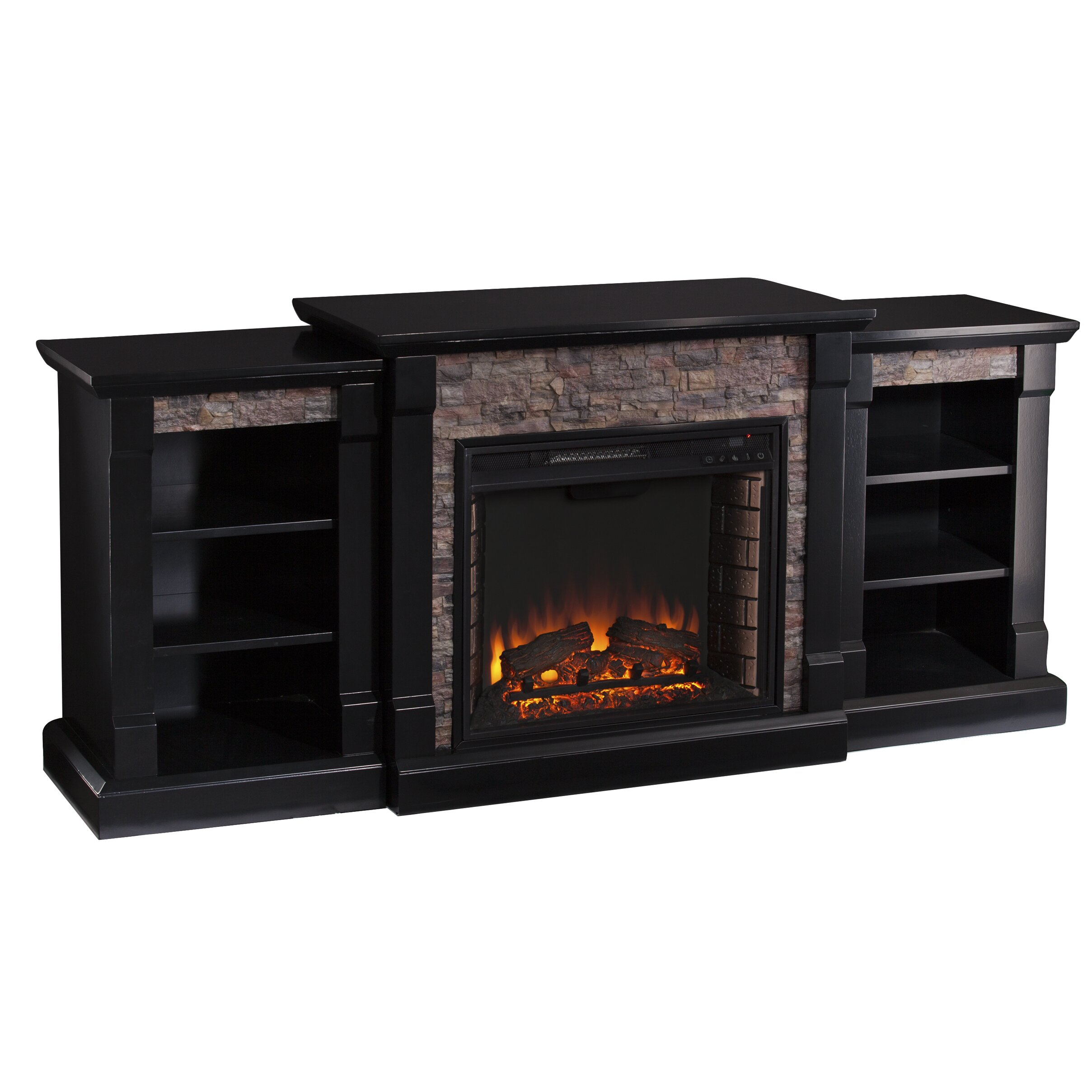 wildon home galley faux stone electric fireplace wayfair