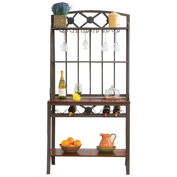 wildon home marabella decorative baker 39 s rack with wine storage reviews wayfair. Black Bedroom Furniture Sets. Home Design Ideas