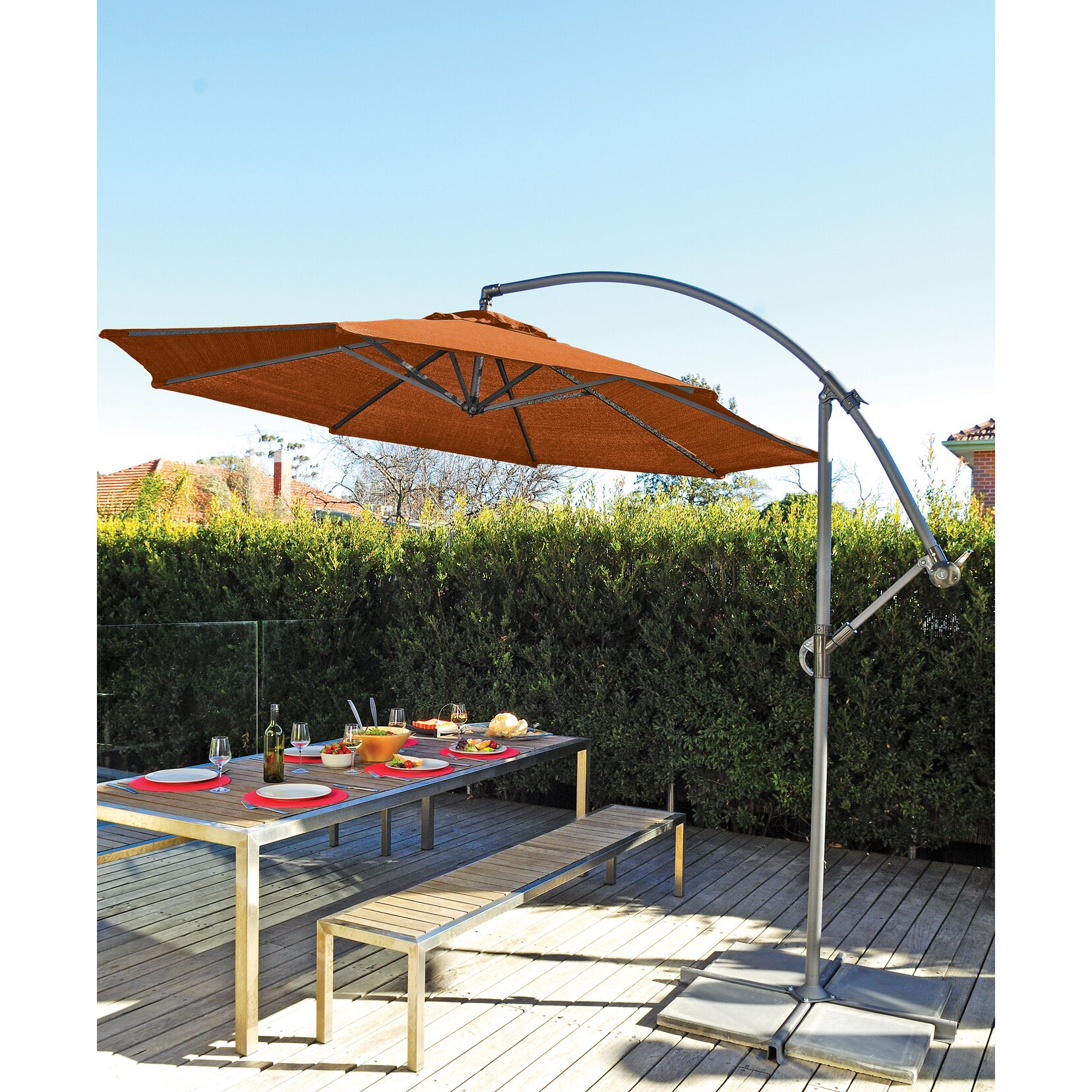 Coolaroo 10 Round Cantilever Patio Umbrella & Reviews