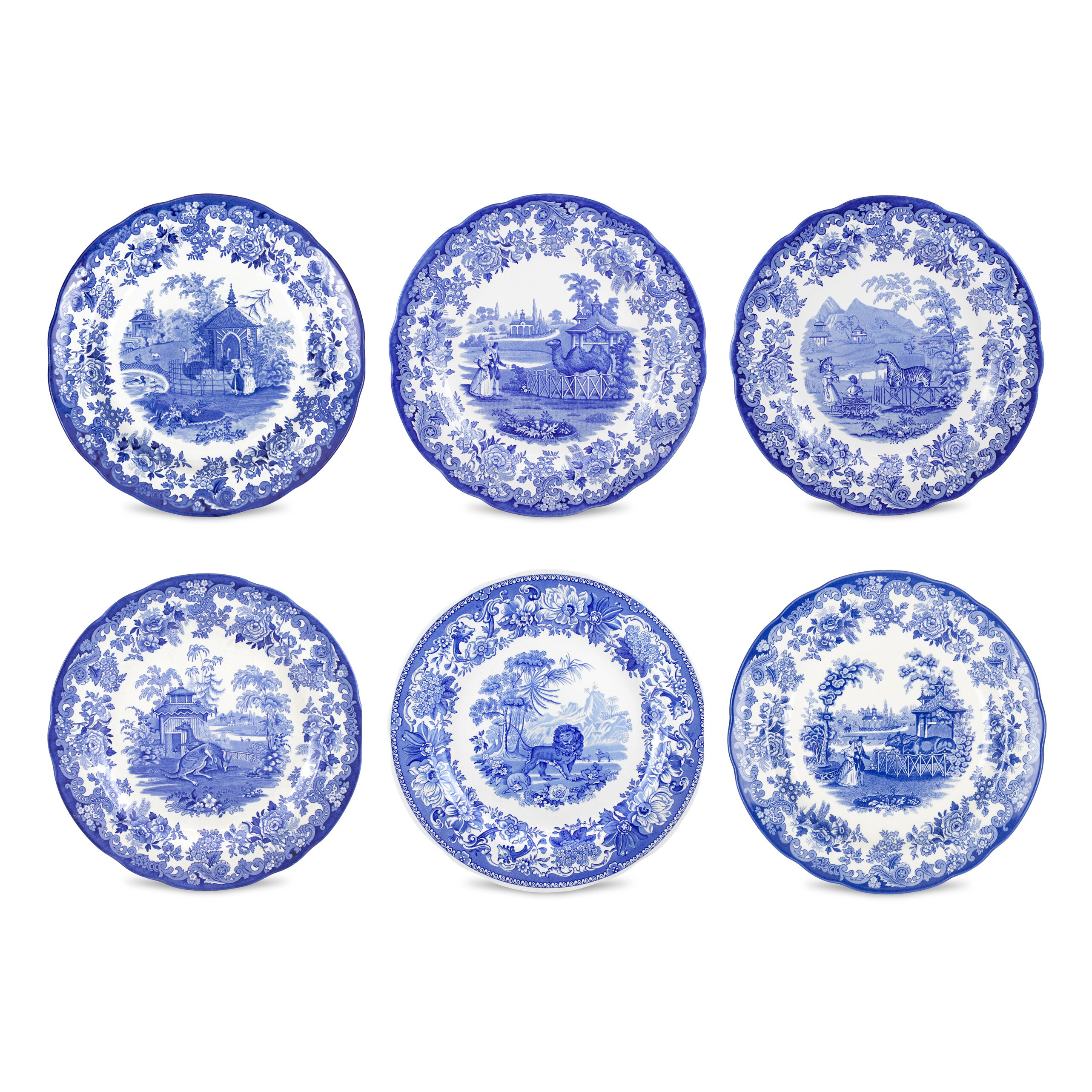 Spode Blue Room Zoological Plates