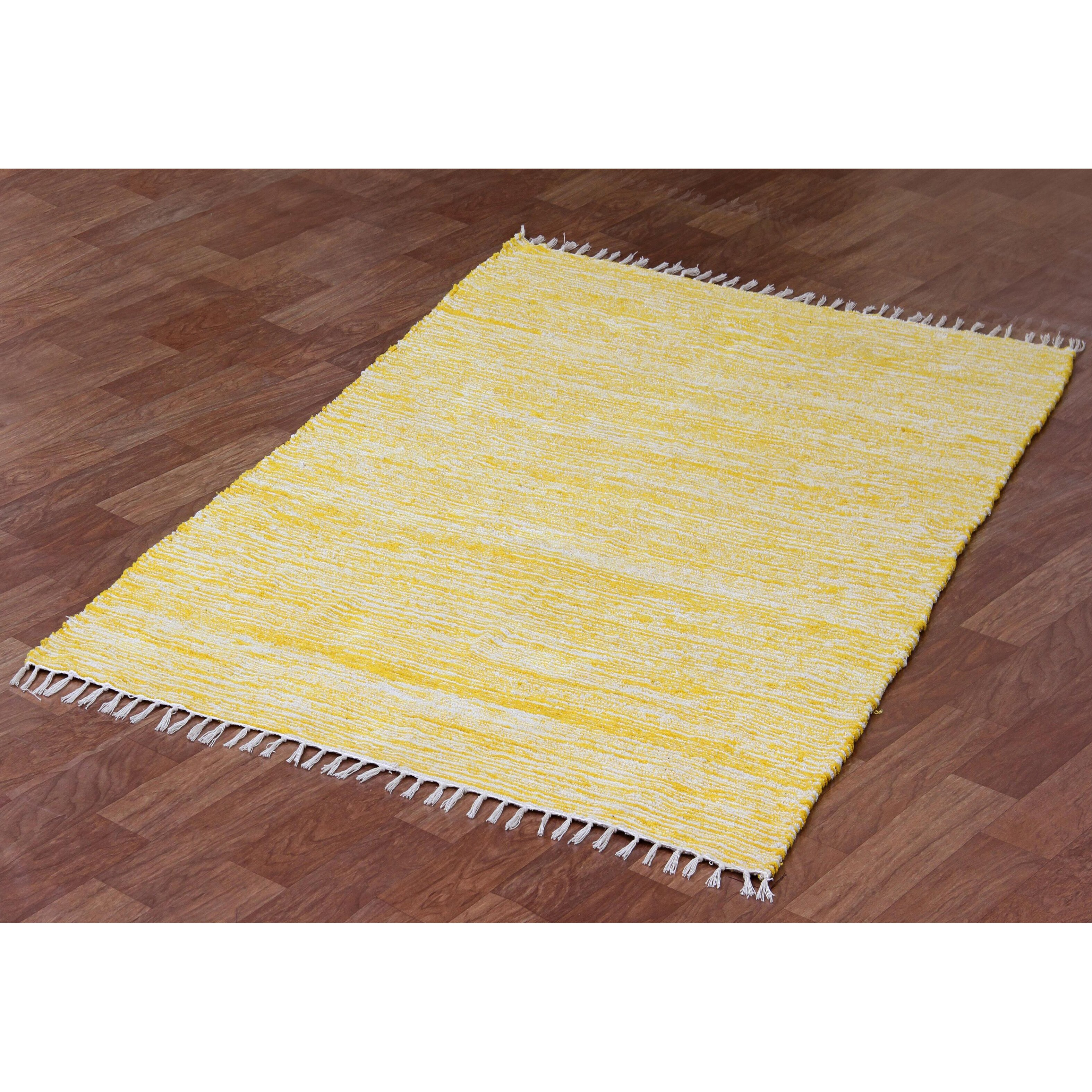 complex yellow area rug by st croix