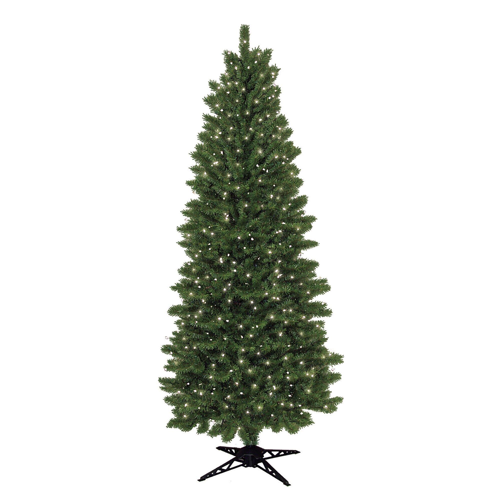 Next Slim Christmas Tree: General Foam Plastics 7' Slim Spruce Artificial Christmas