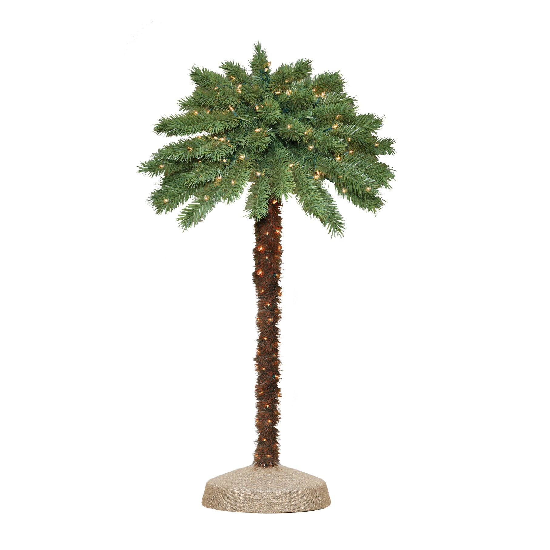 4' Green Tropical Artificial Christmas Palm Tree with 105 ...