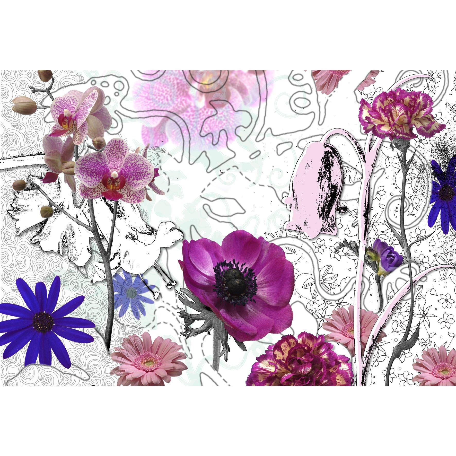 purple wall mural wayfair uk flowers tree path purple wall mural photo wallpaper