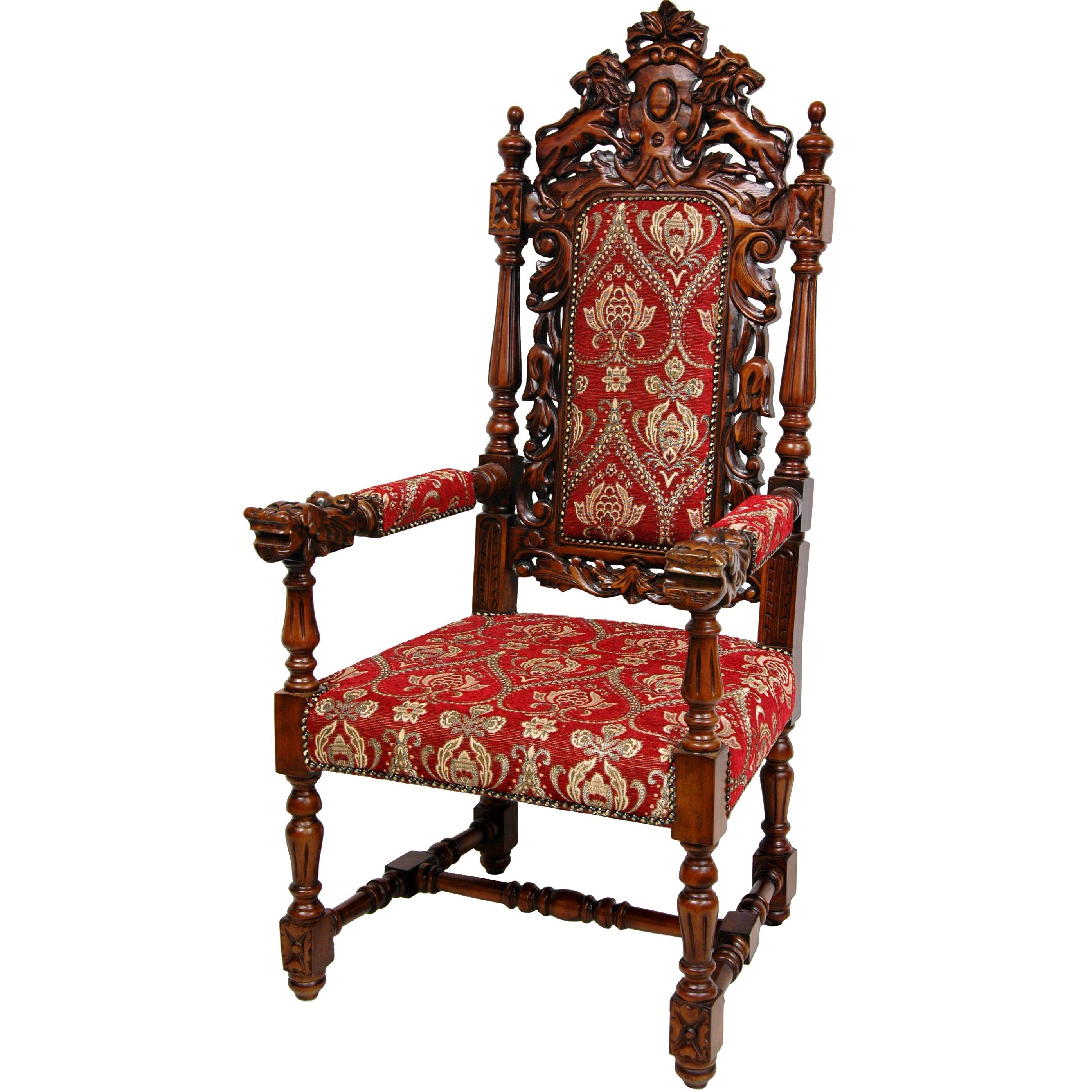 Queen Anne Parlor Fabric Arm Chair | Wayfair