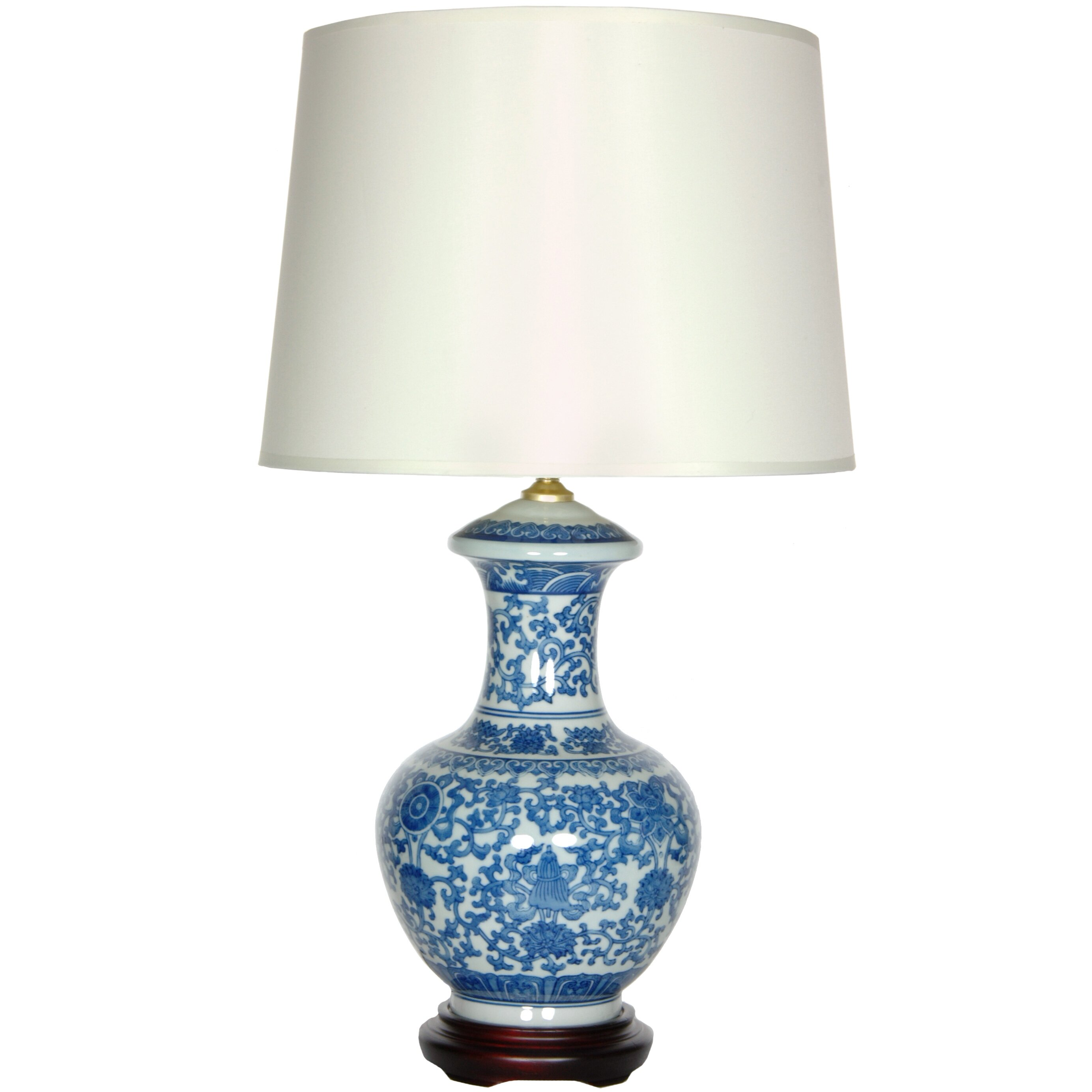 Round ceramic table lamp best inspiration for table lamp all products home decor lamps table lamps oriental furniture porcelain geotapseo Gallery