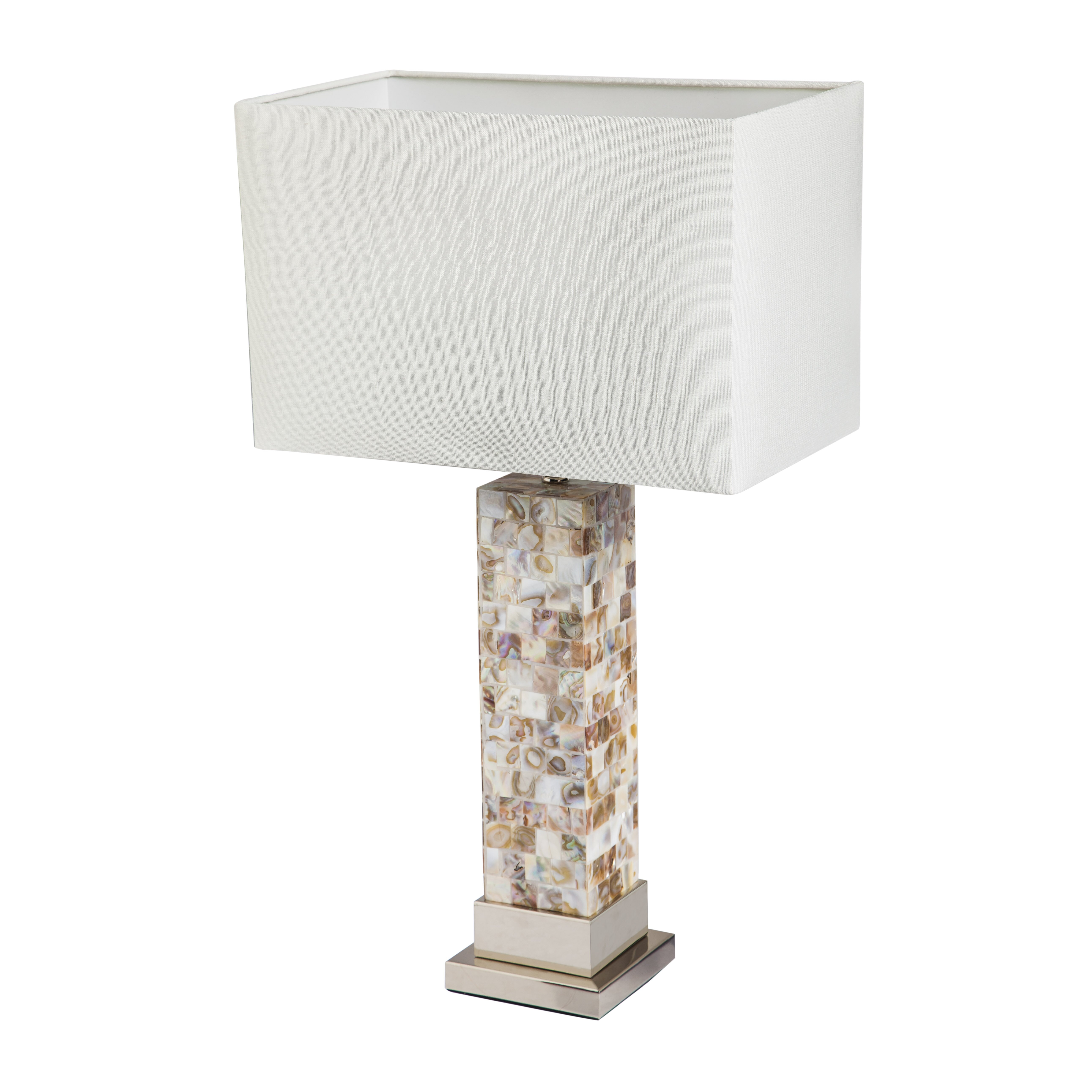 24 h table lamp with rectangular shade by evergreen enterprises inc. Black Bedroom Furniture Sets. Home Design Ideas