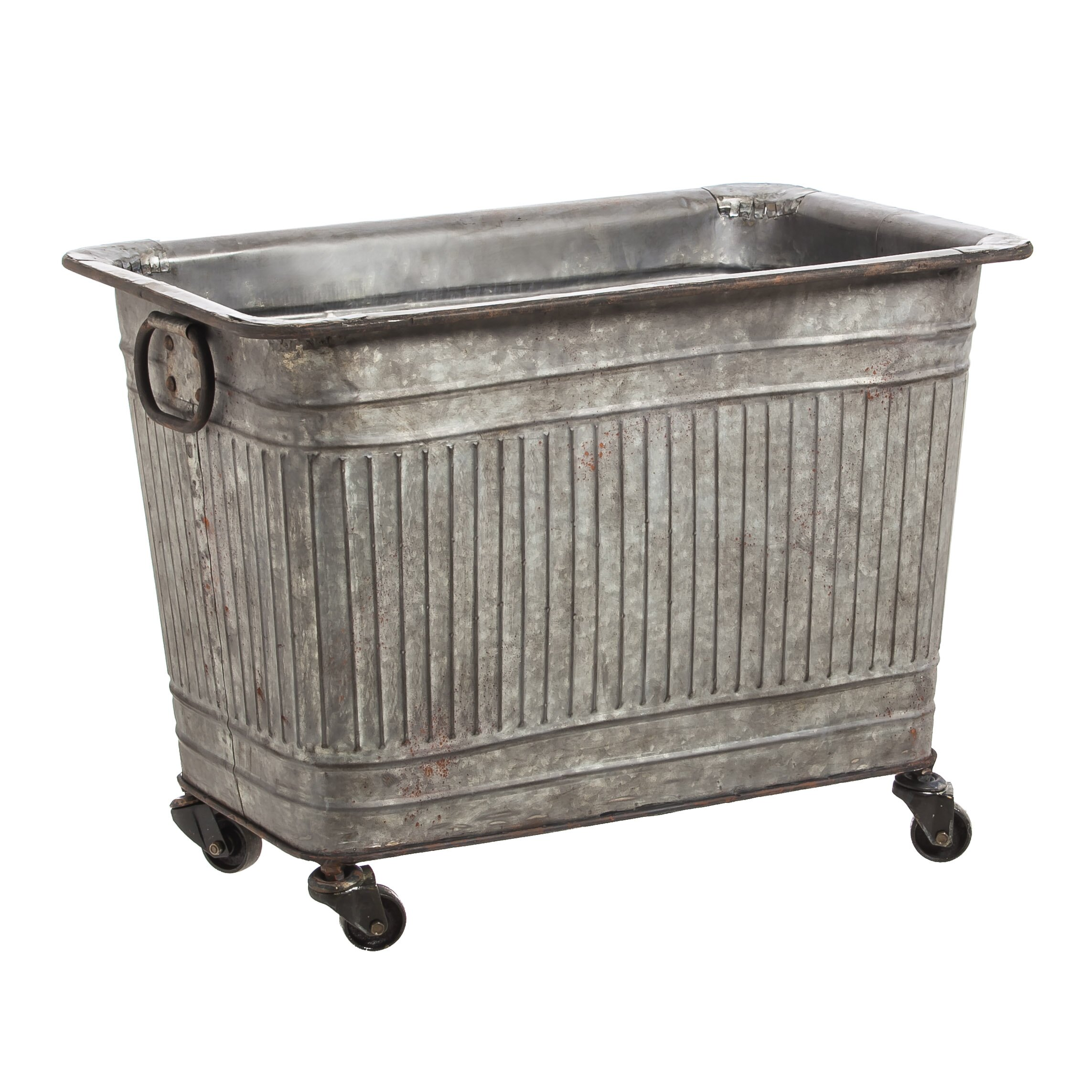 Large Galvanized Metal Tub On Wheels Wayfair